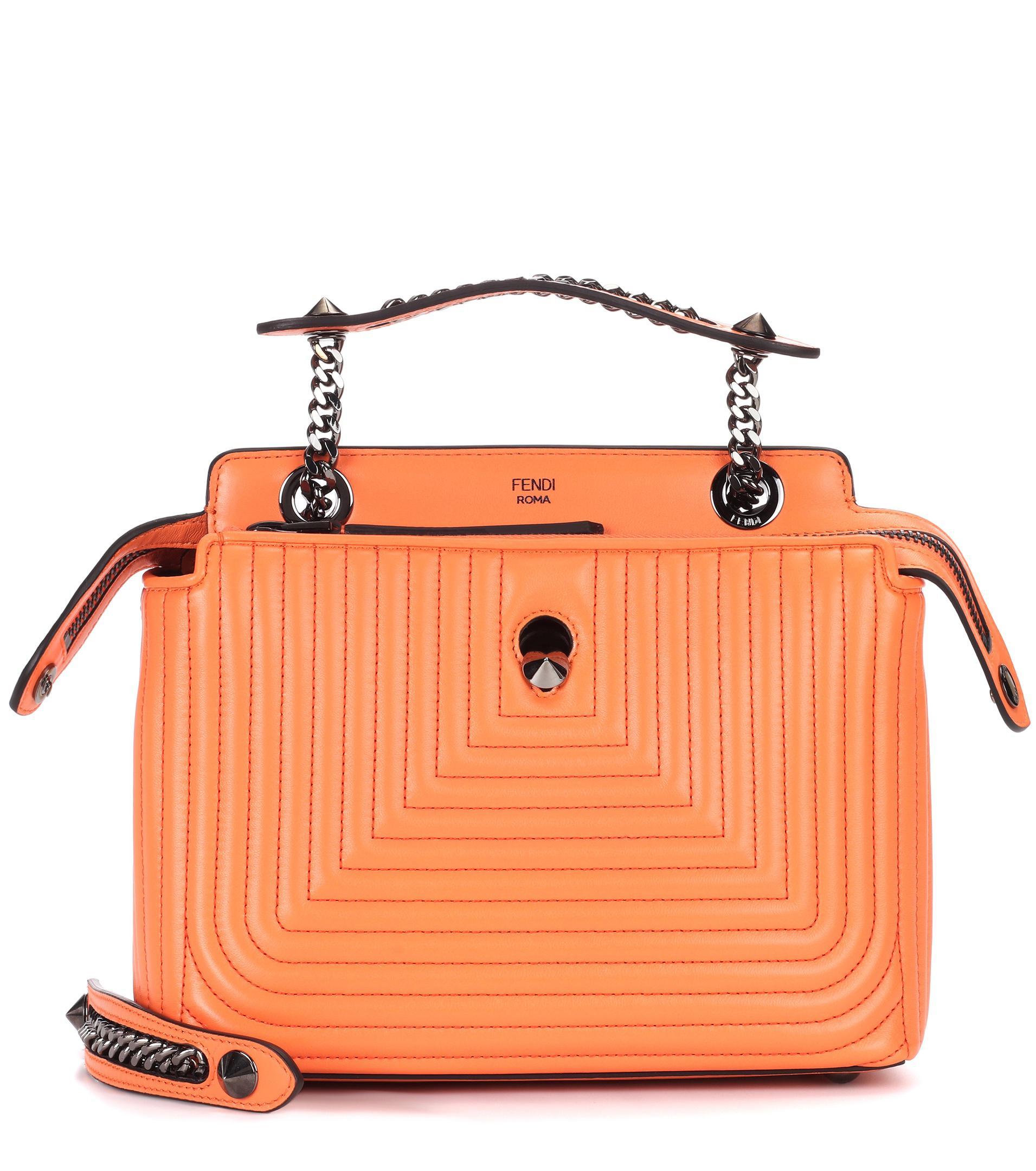 56968c7dccdd Lyst - Fendi Dotcom Click Leather Shoulder Bag in Orange