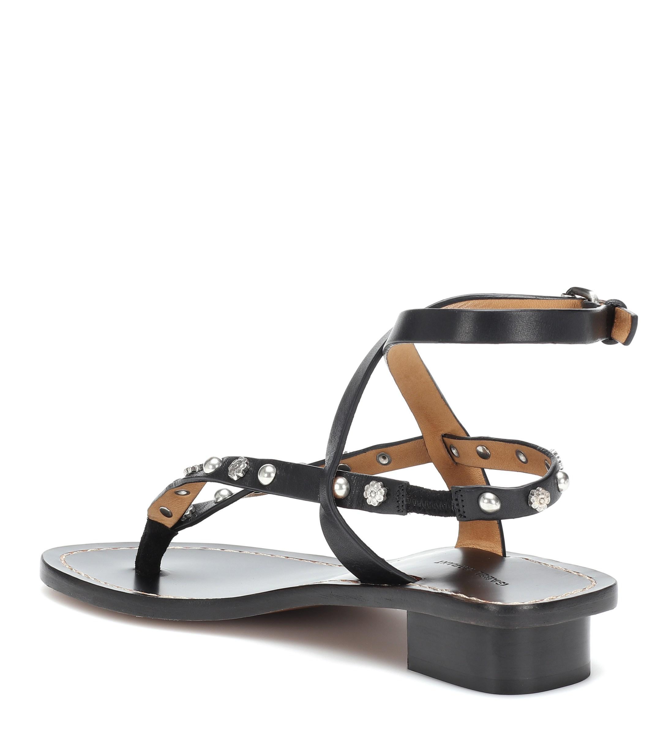 Lyst Jings Sandals In Embellished Isabel Black Marant Leather rFwOrBq