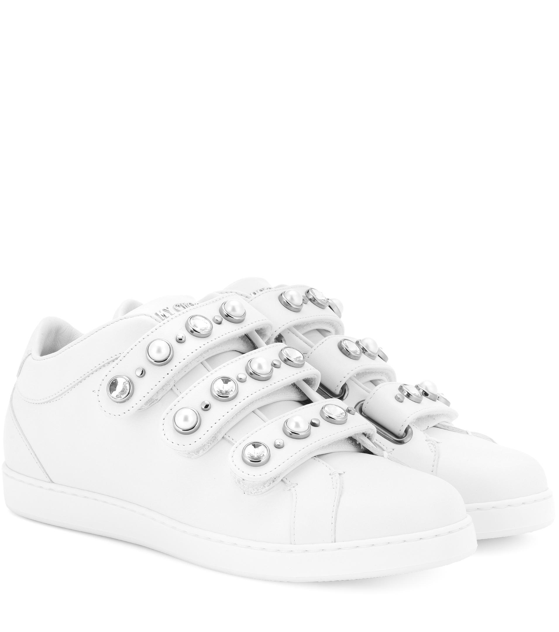 Jimmy Choo NY embellished leather sneakers ebay online RpRH2