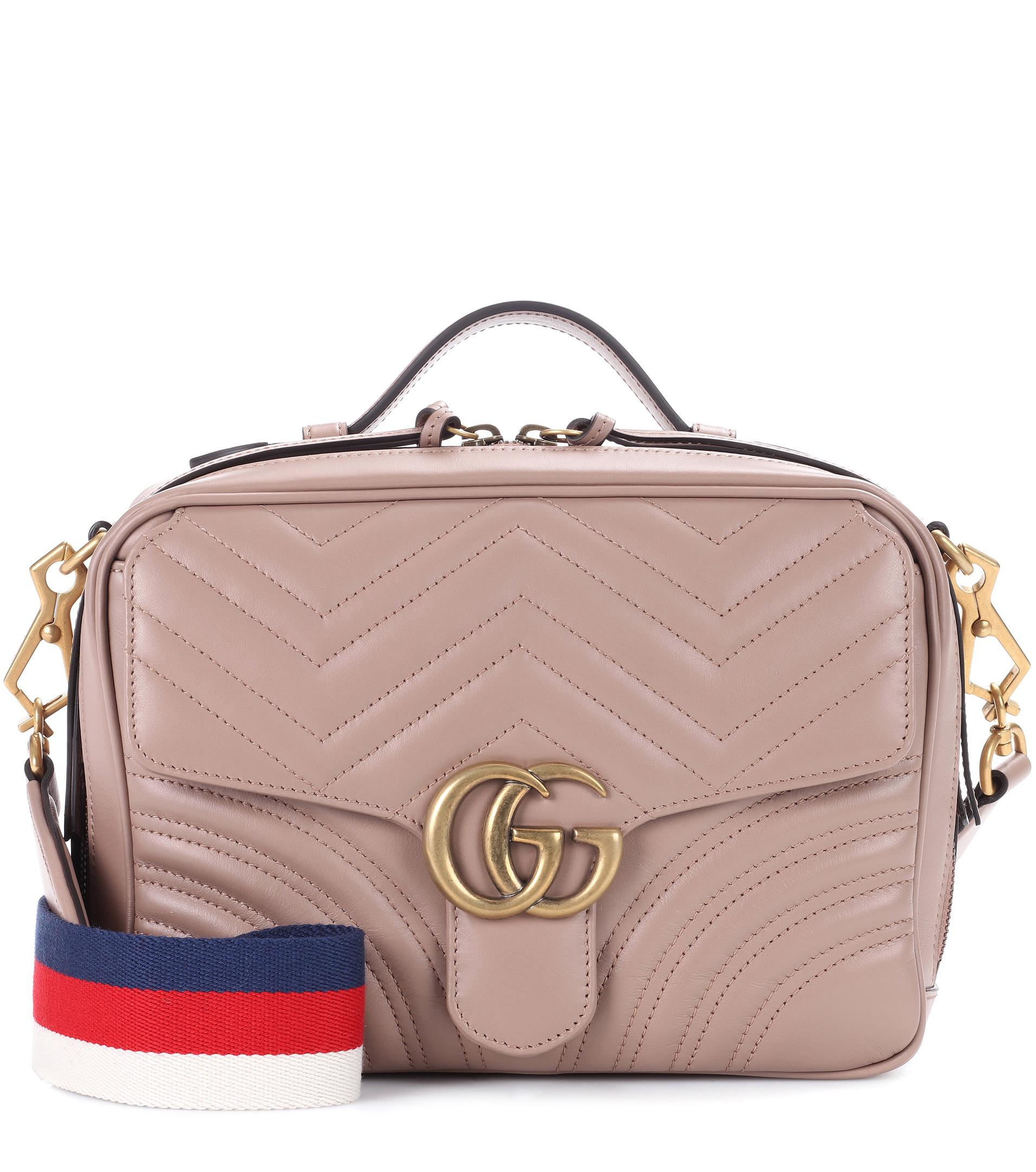 e699e109fa Gucci Gg Marmont Matelassé Leather Shoulder Bag in Natural - Lyst