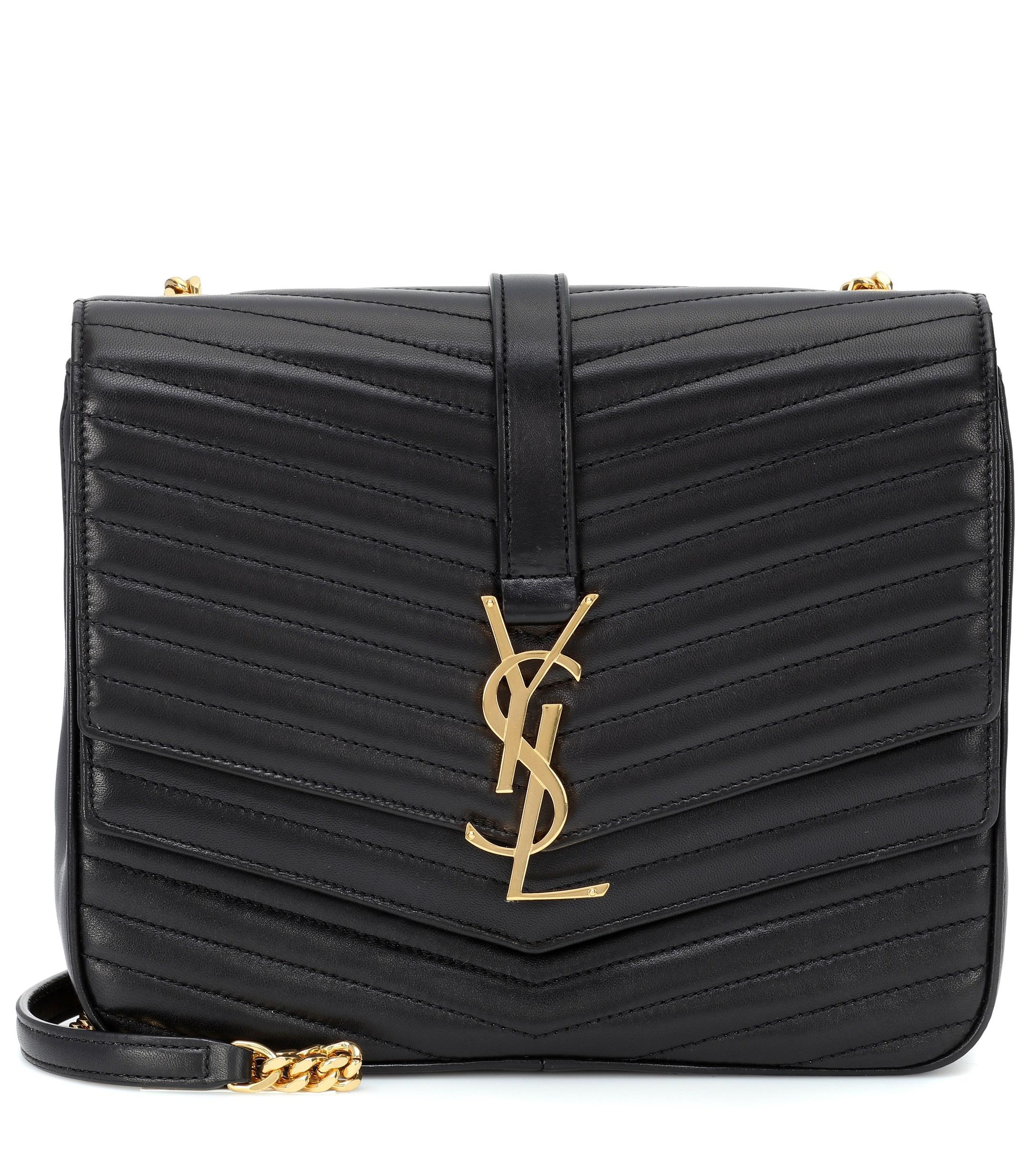 02343c47c2 Saint Laurent - Black Sulpice Medium Leather Shoulder Bag - Lyst. View  fullscreen