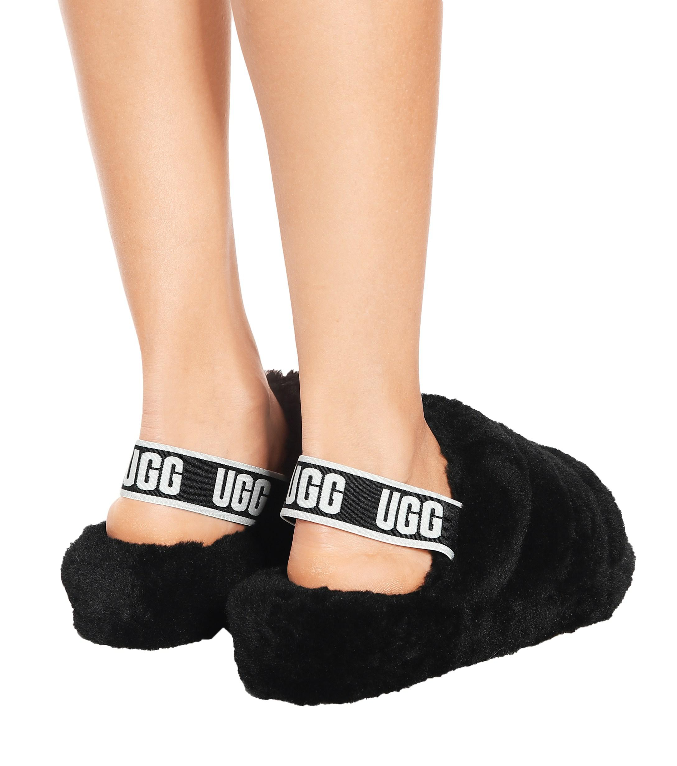Ugg Fluff Yeah Fur Slides In Black Lyst