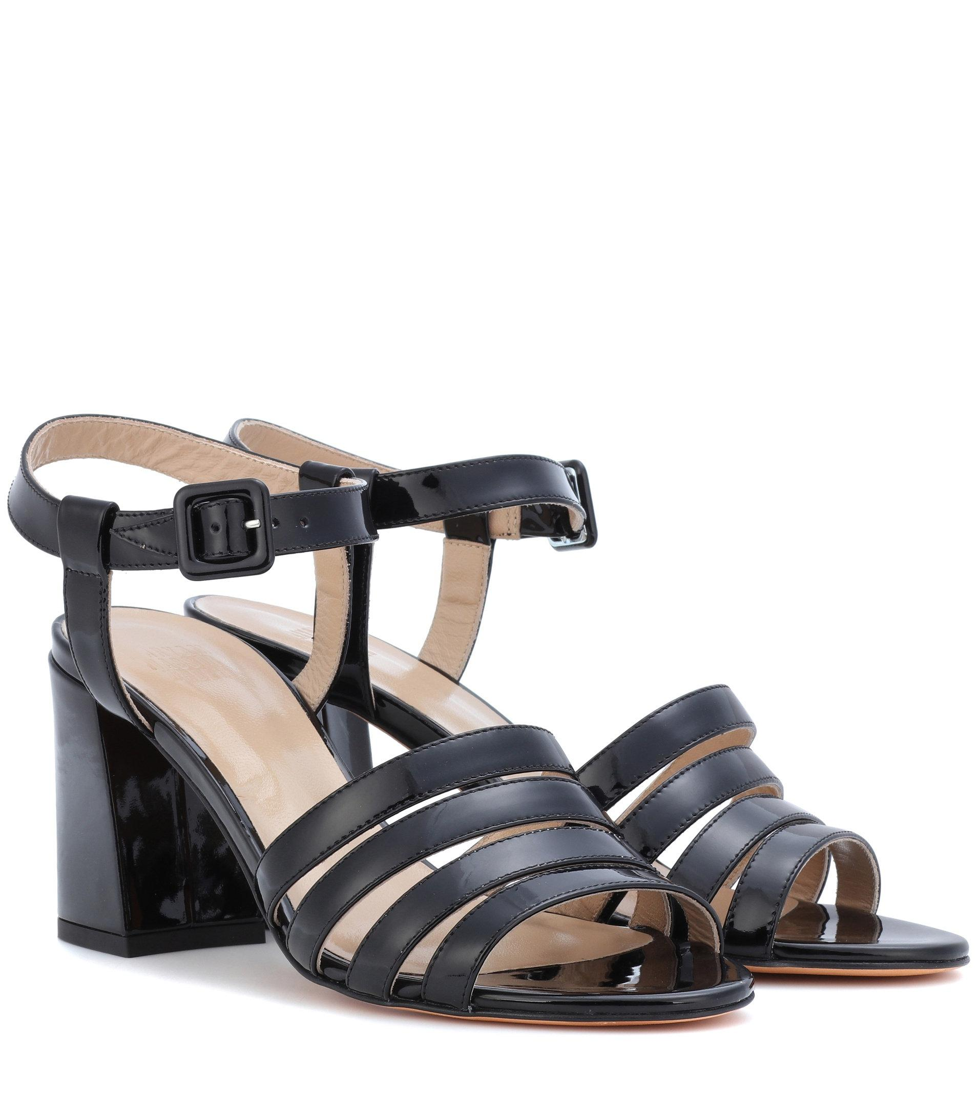 d3301187a19 Maryam Nassir Zadeh Palma High Patent Leather Sandals in Black - Lyst