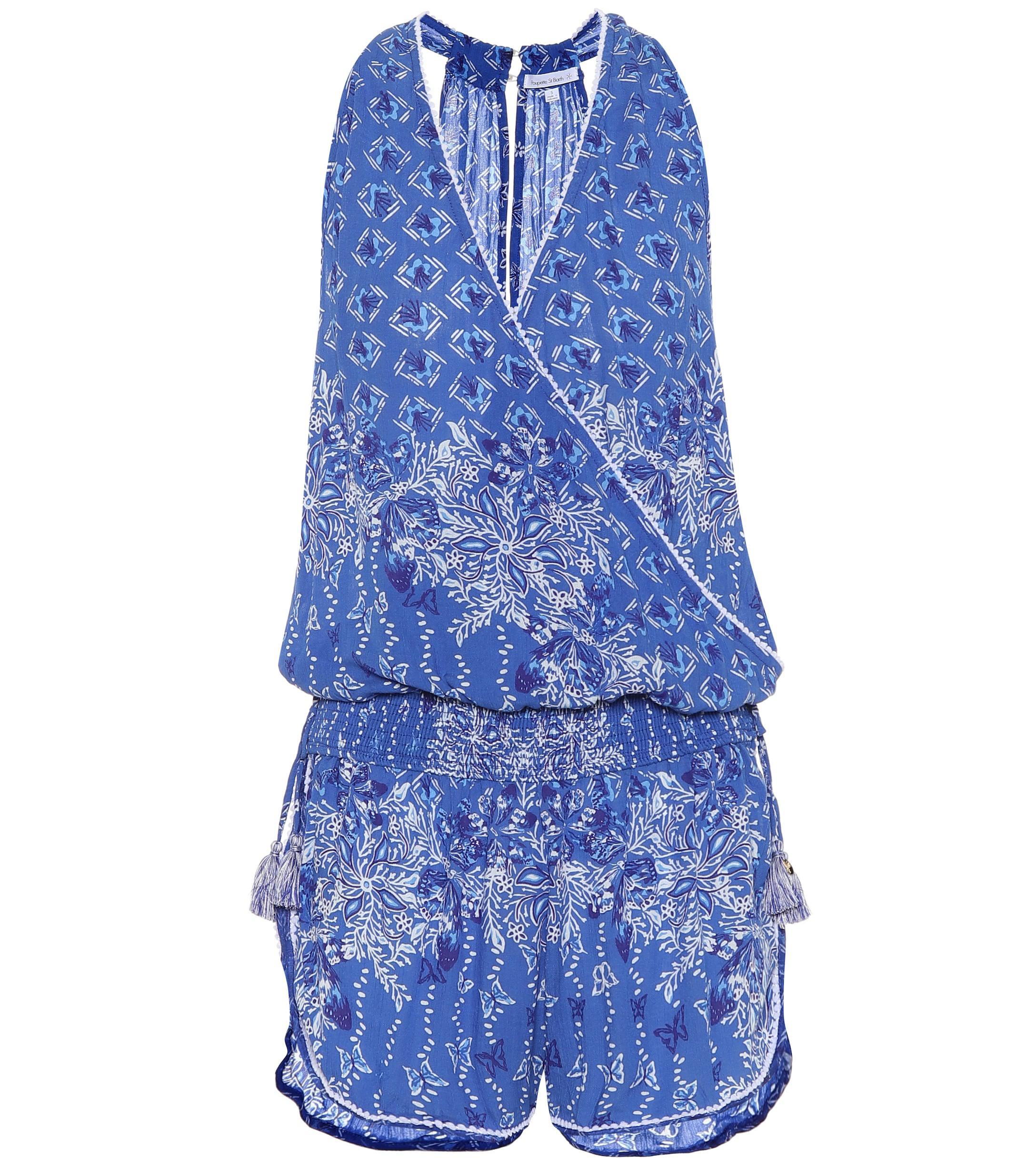 c316f3cc59cb Lyst - Poupette Elise Printed Playsuit in Blue