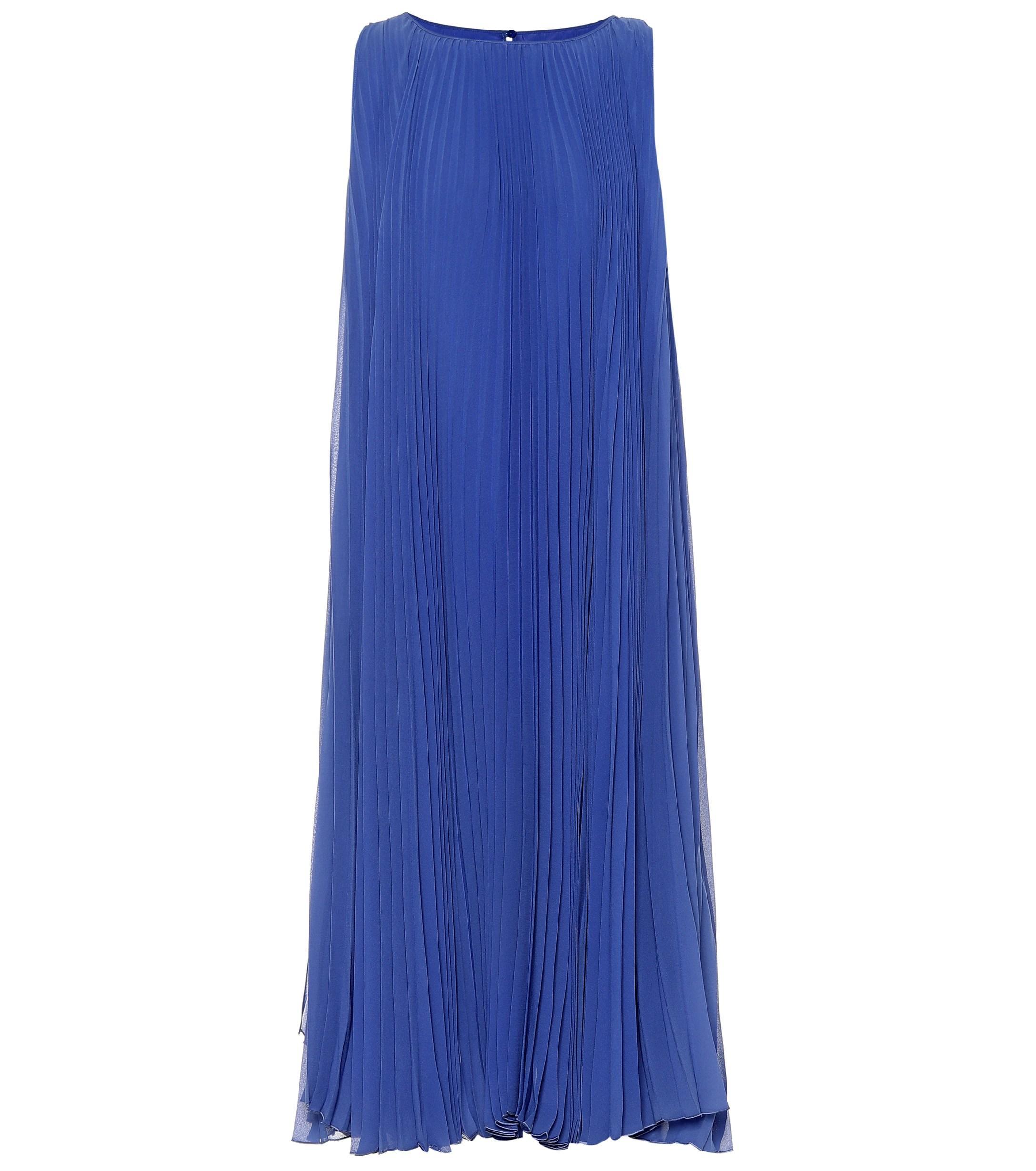 6c250b0e2bb Max Mara - Blue Clelia Double Georgette Dress - Lyst. View fullscreen