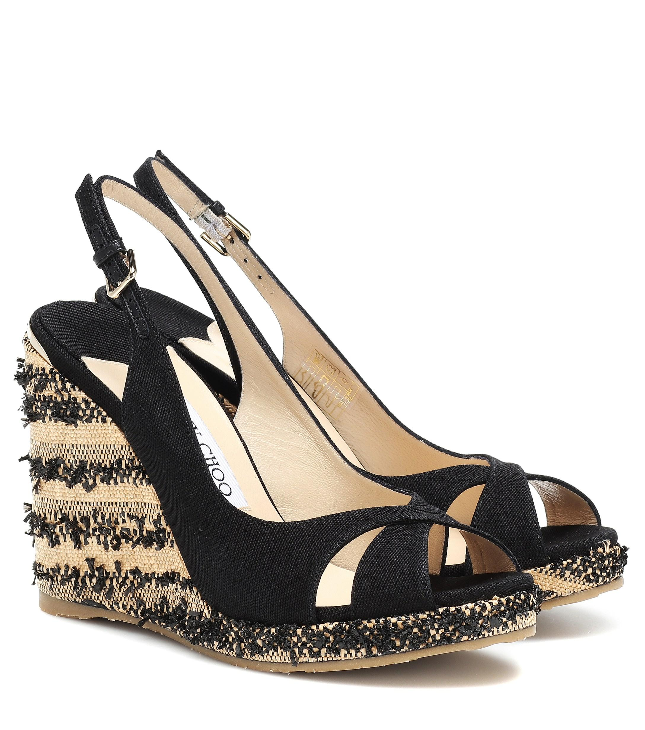e44bc81ac4 Lyst - Jimmy Choo Amely 105 Platform Wedge Sandals in Black