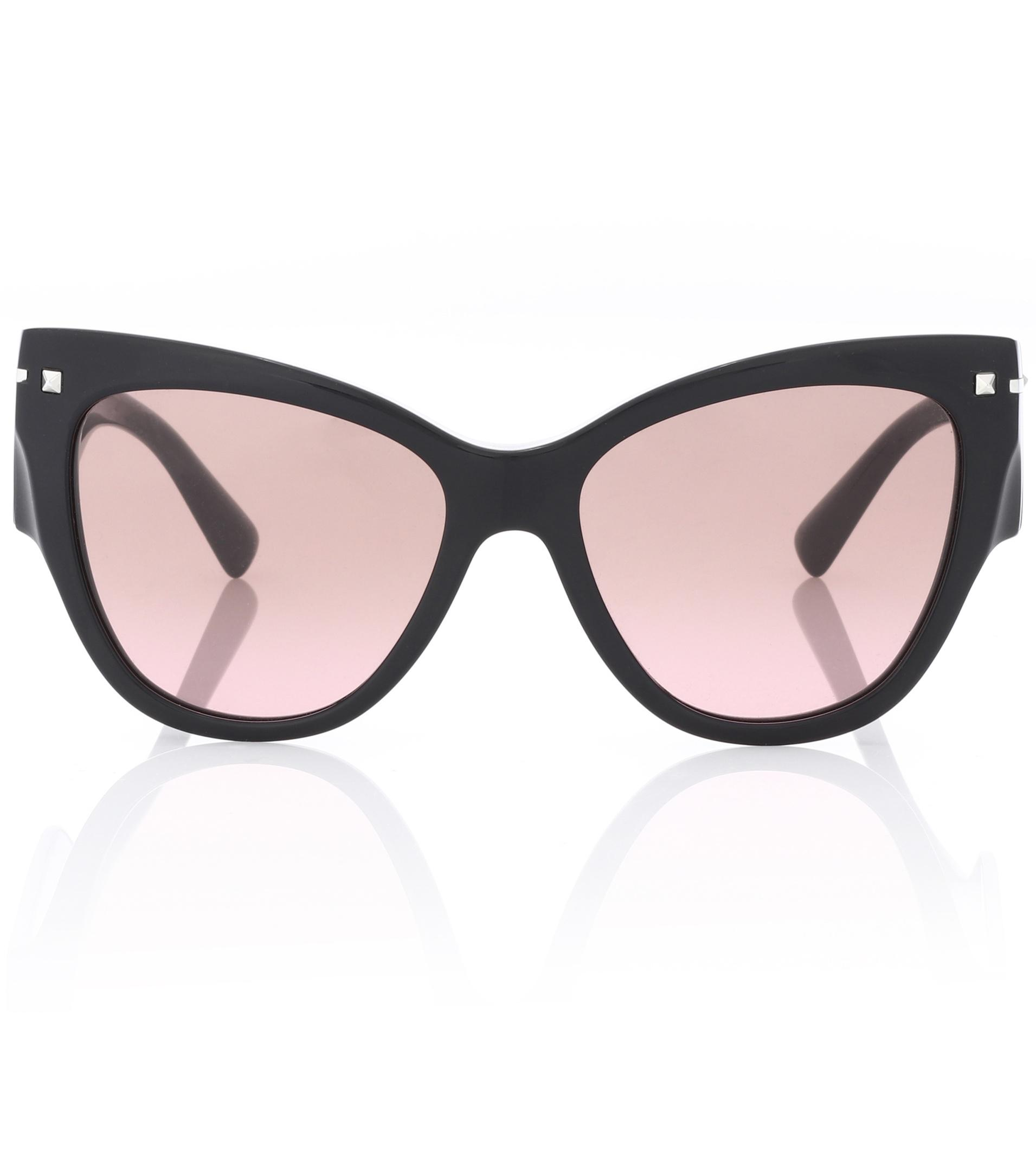 Valentino Garavani Cat-eye Acetate Sunglasses - Black Valentino bsDsJF