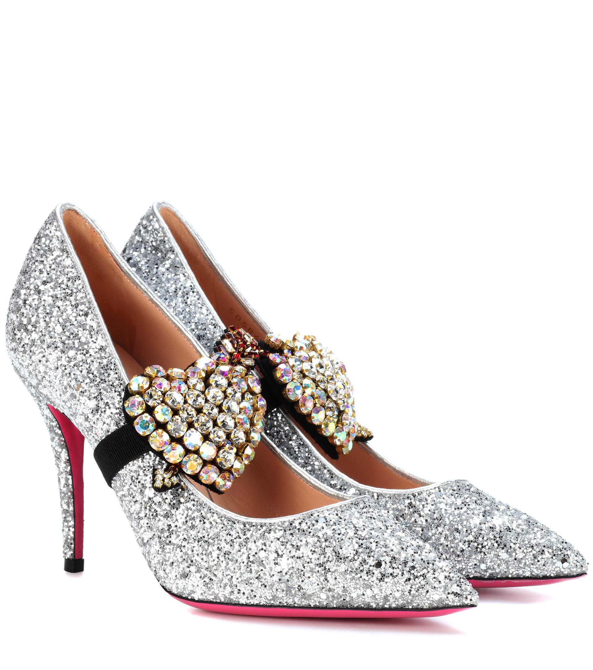vkasB5llOM Embellished glitter pumps