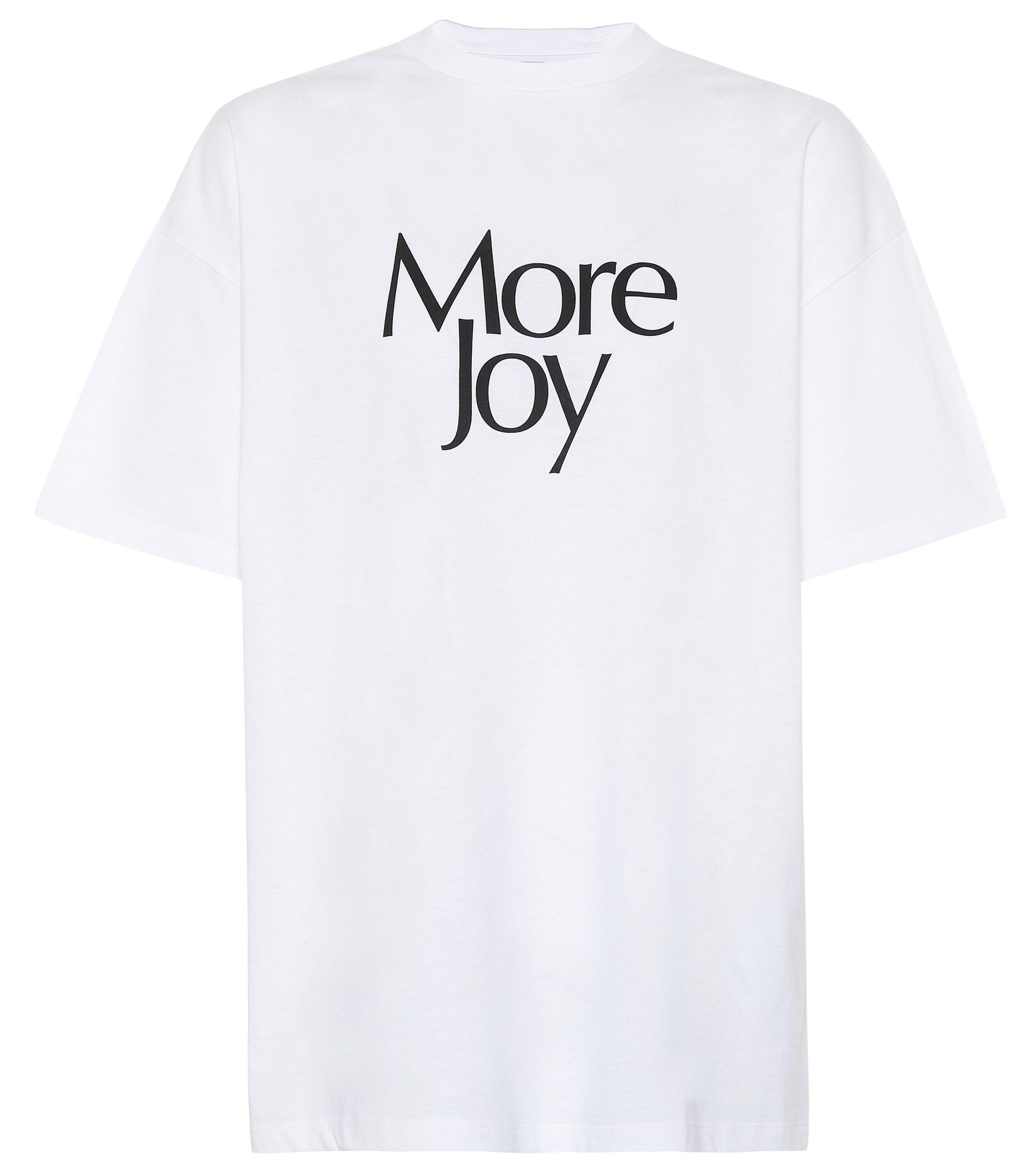 7a52d1b09 Lyst - Christopher Kane More Joy Printed Cotton T-shirt in White