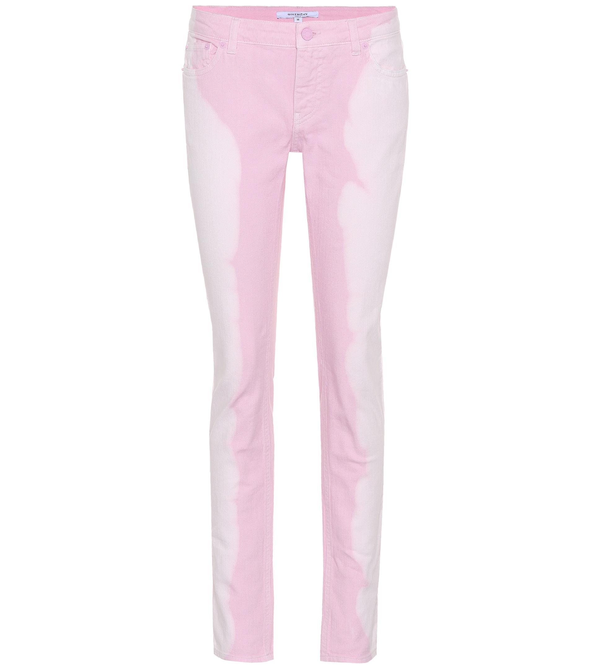 e352401d6bf Lyst - Jeans skinny de tiro bajo Givenchy de color Rosa