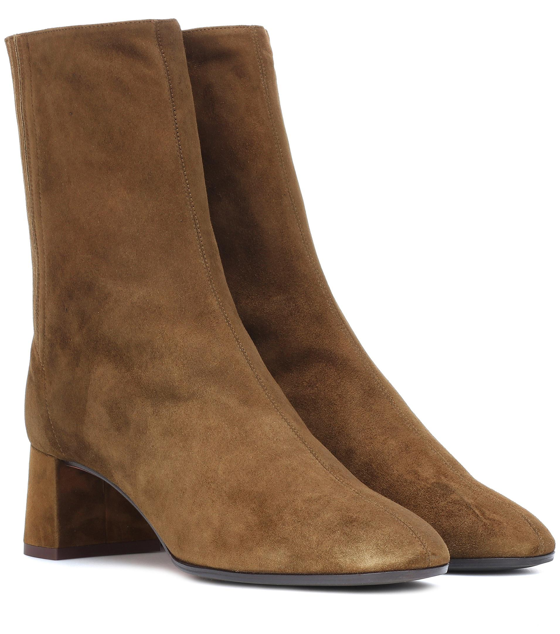 new cheap price Aquazzura Saint Honoré 50 suede ankle boots discount Cheapest WHkV6nQ