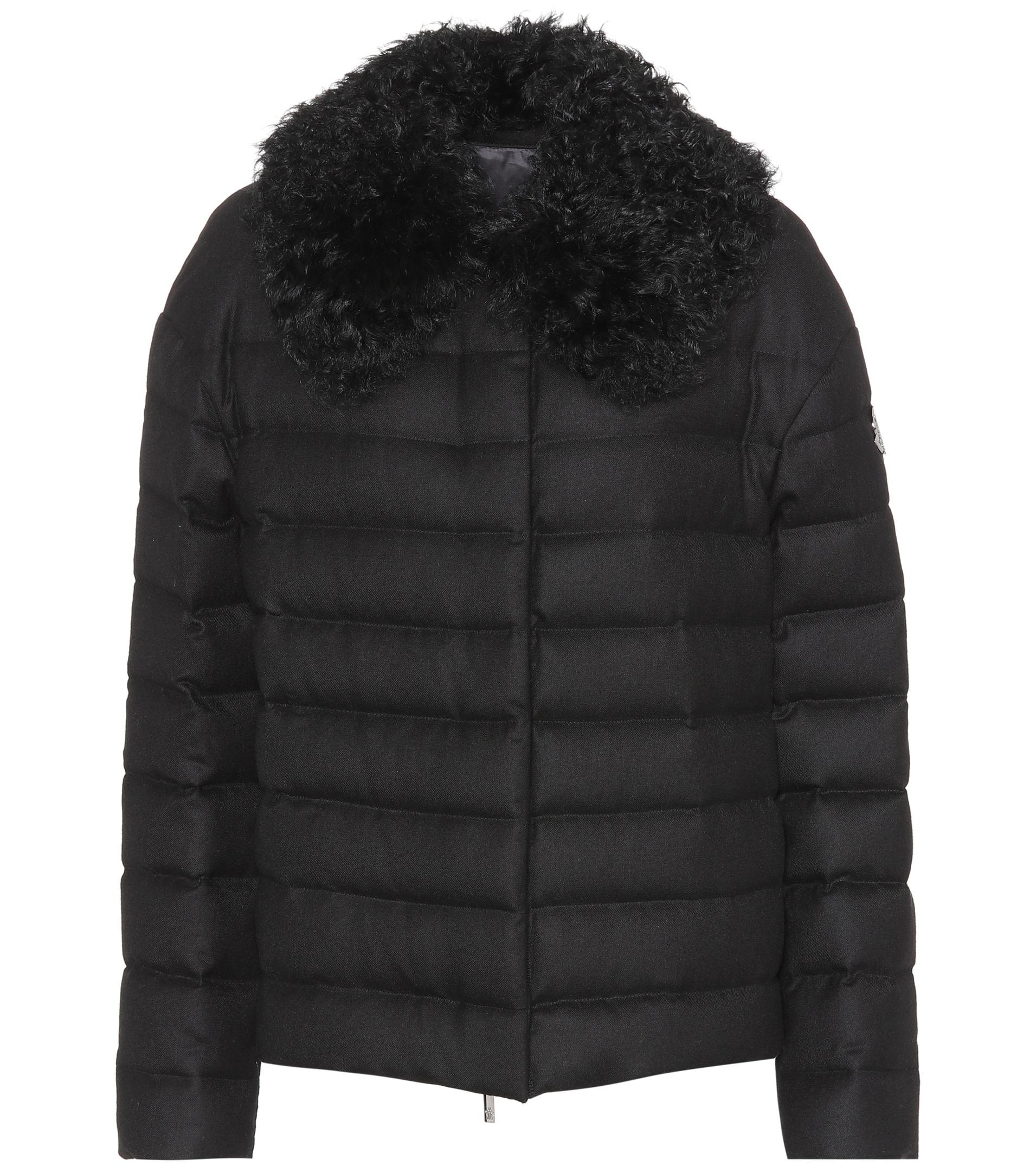 Moncler Baker Down-filled Cashmere Jacket in Black - Lyst 99e171fc0