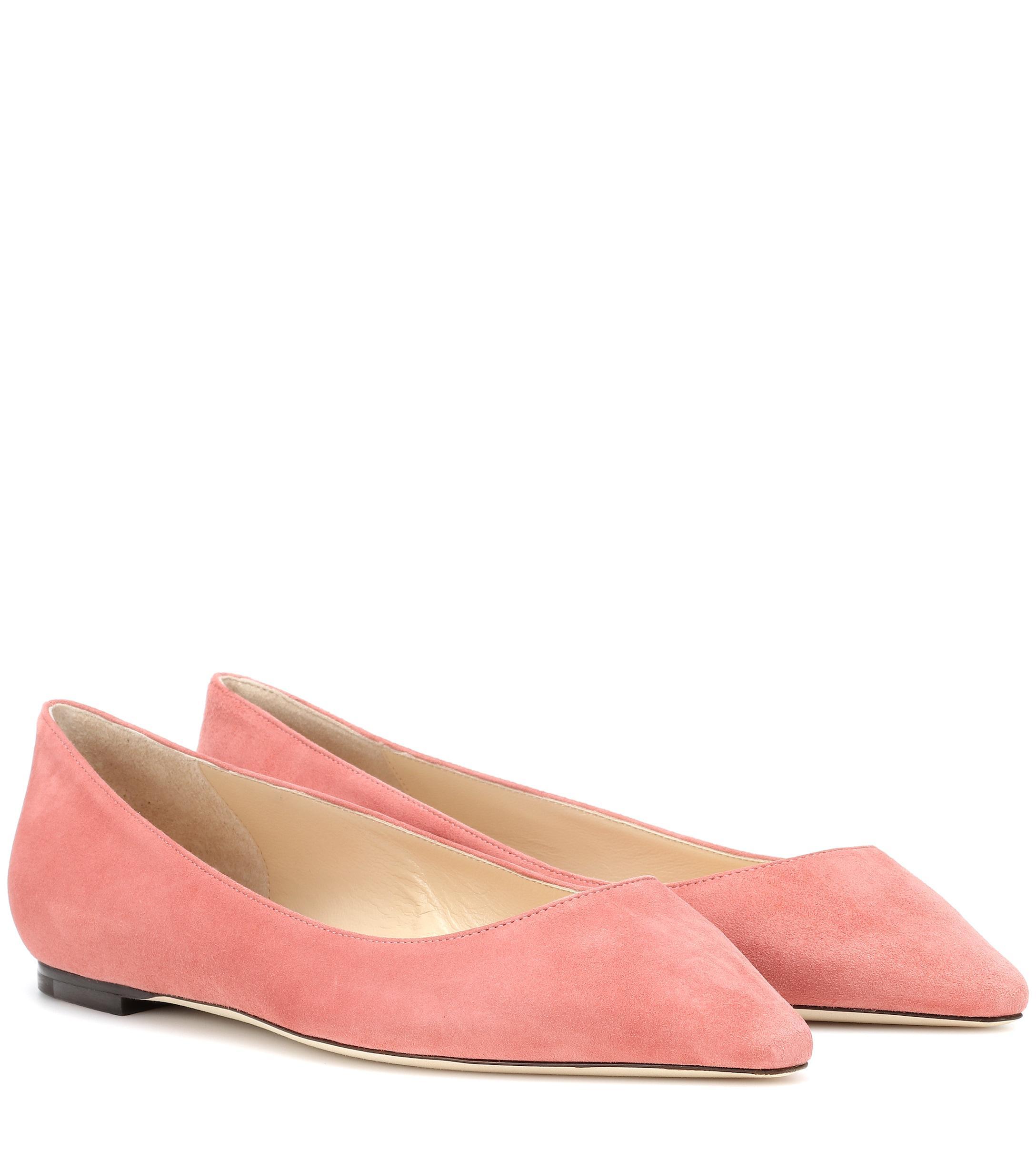 fa523d8de009 Lyst - Jimmy Choo Romy Suede Ballet Flats in Pink