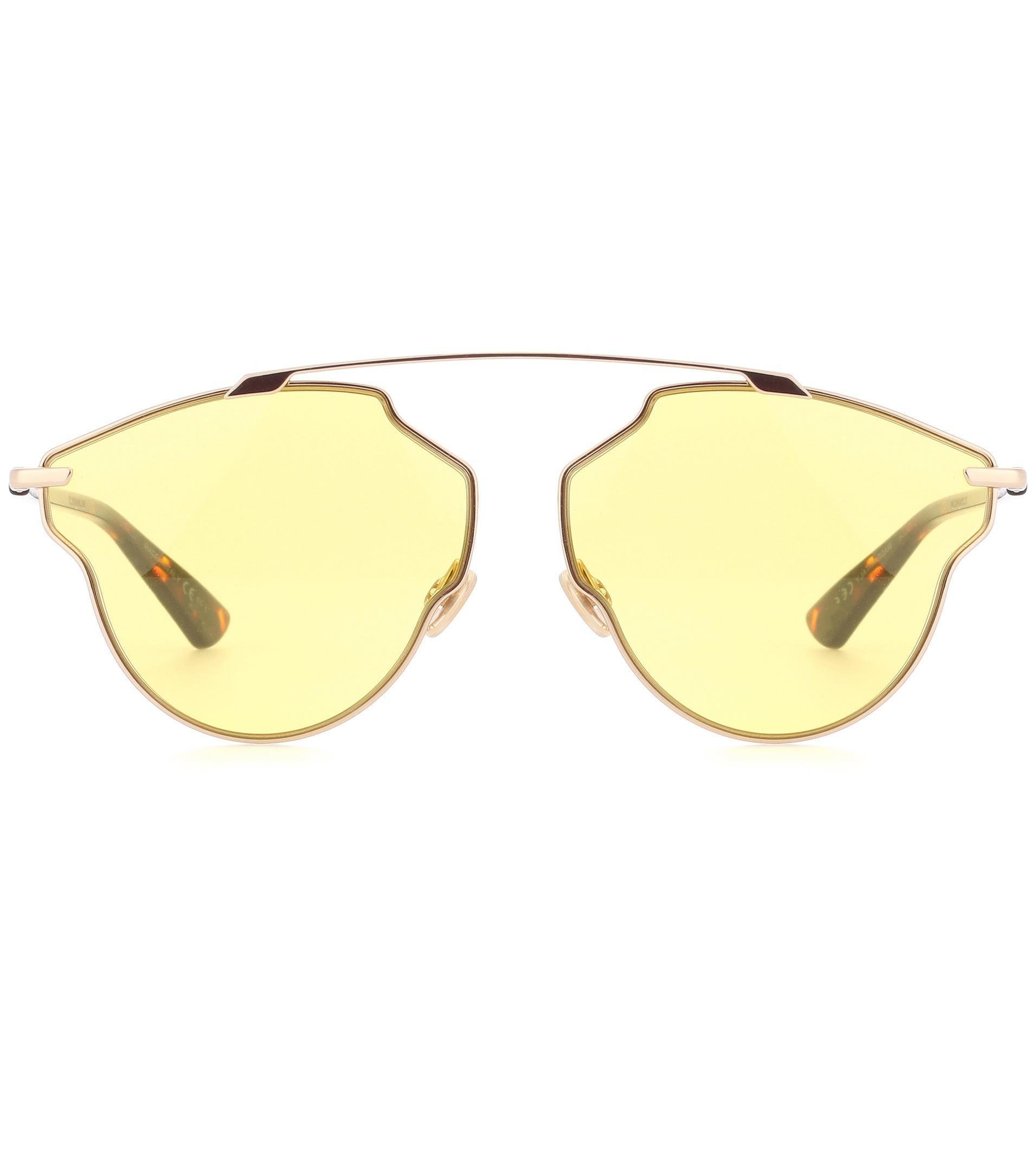 441b9e58a5 Dior Dior So Real Pop Sunglasses in Yellow - Lyst