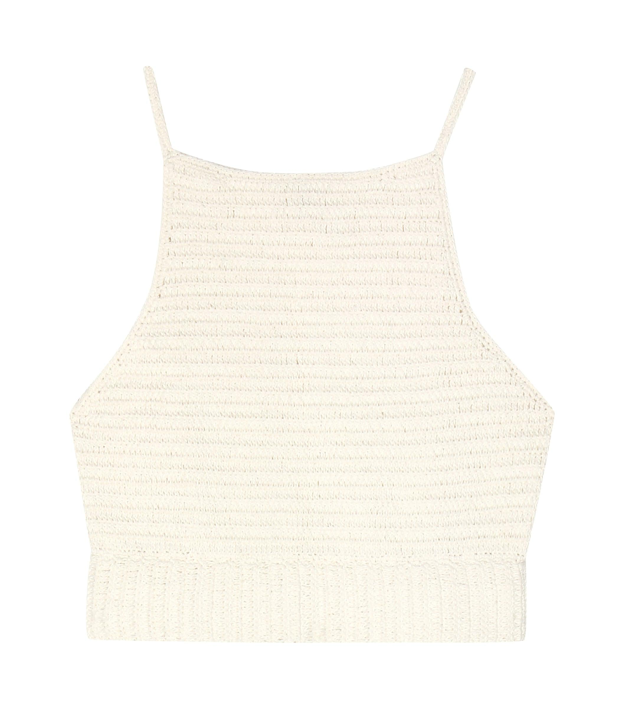 5ede4441467 She Made Me Crochet Knit Cotton Top in Natural - Lyst