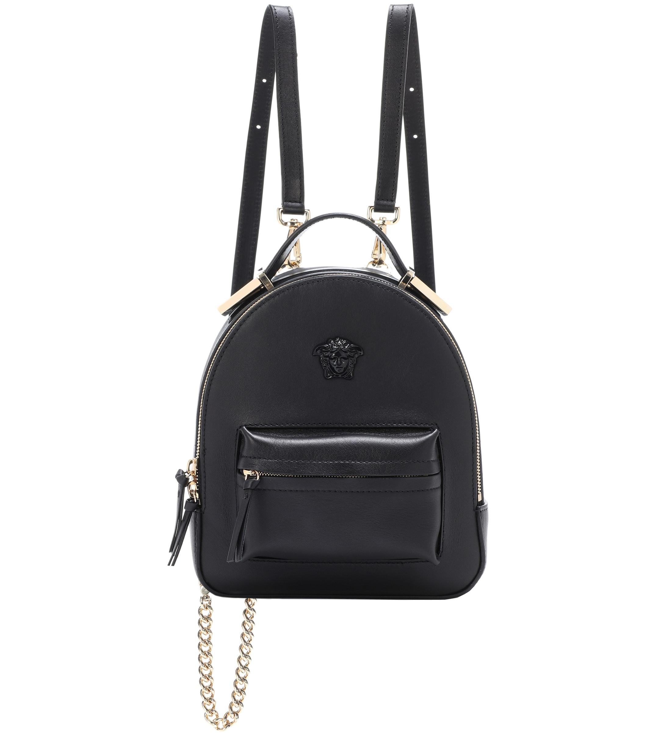 b9d783bf69 Versace Palazzo Leather Backpack in Black - Lyst