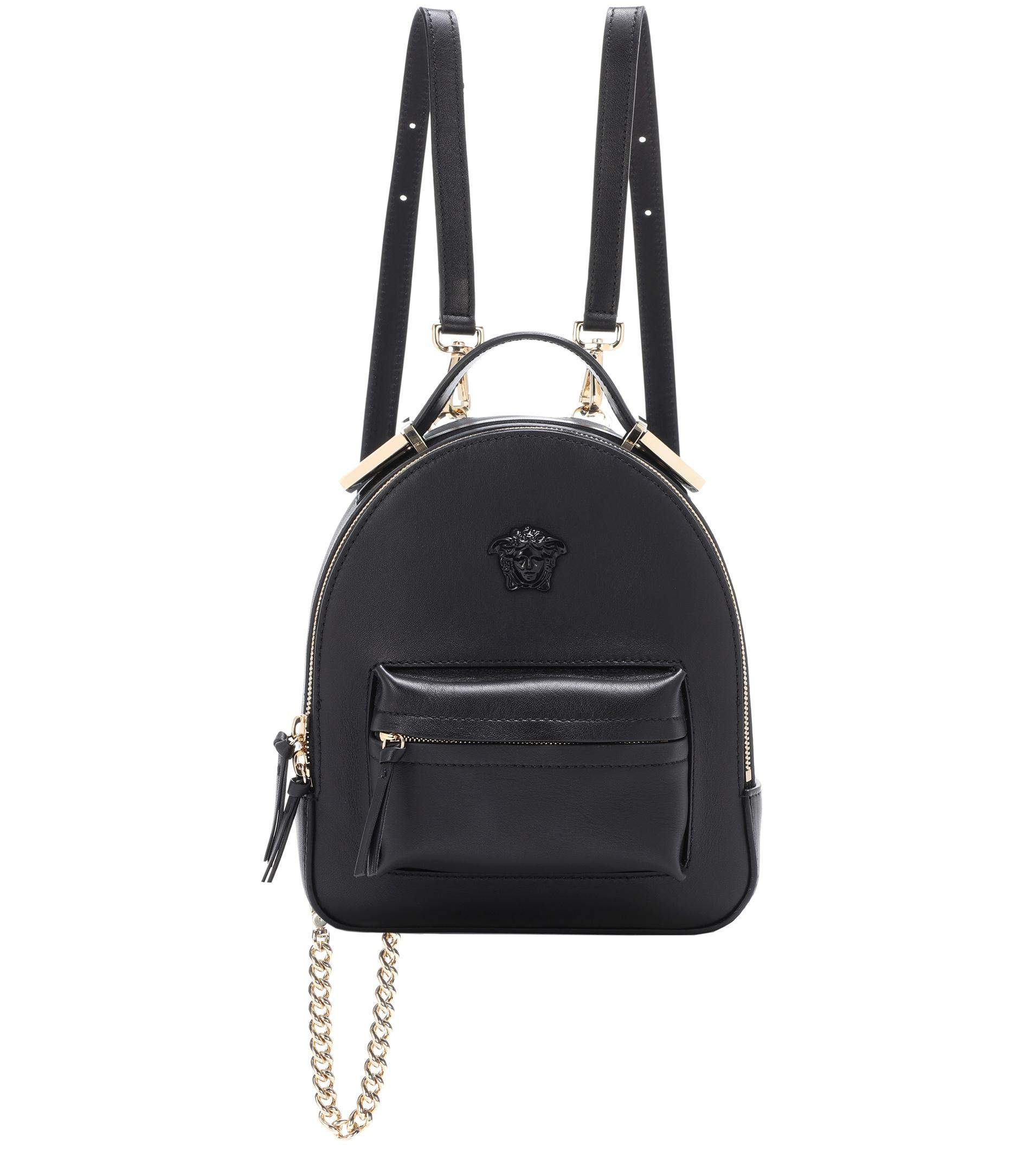 d7875186da Lyst - Versace Palazzo Leather Backpack in Blue