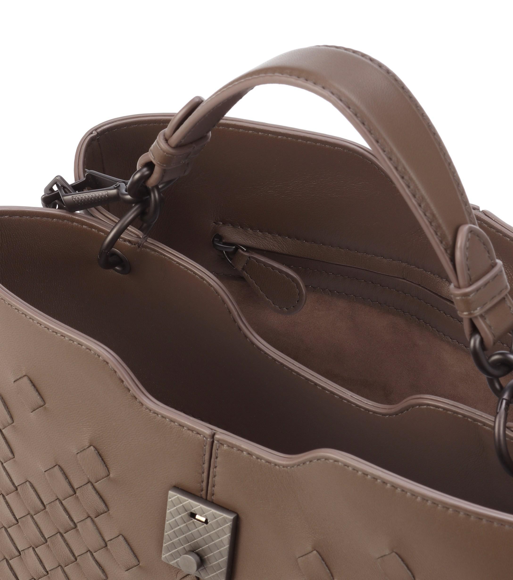 4d757c3036 Lyst - Bottega Veneta Medium Napoli Leather Shoulder Bag in Brown