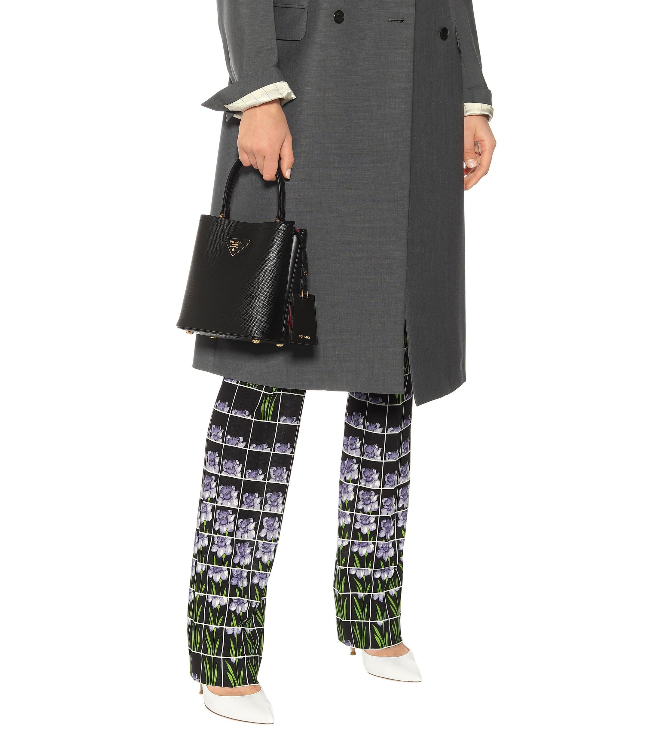 192d325794dd Prada - Black Saffiano Mini Leather Bucket Bag - Lyst. View fullscreen