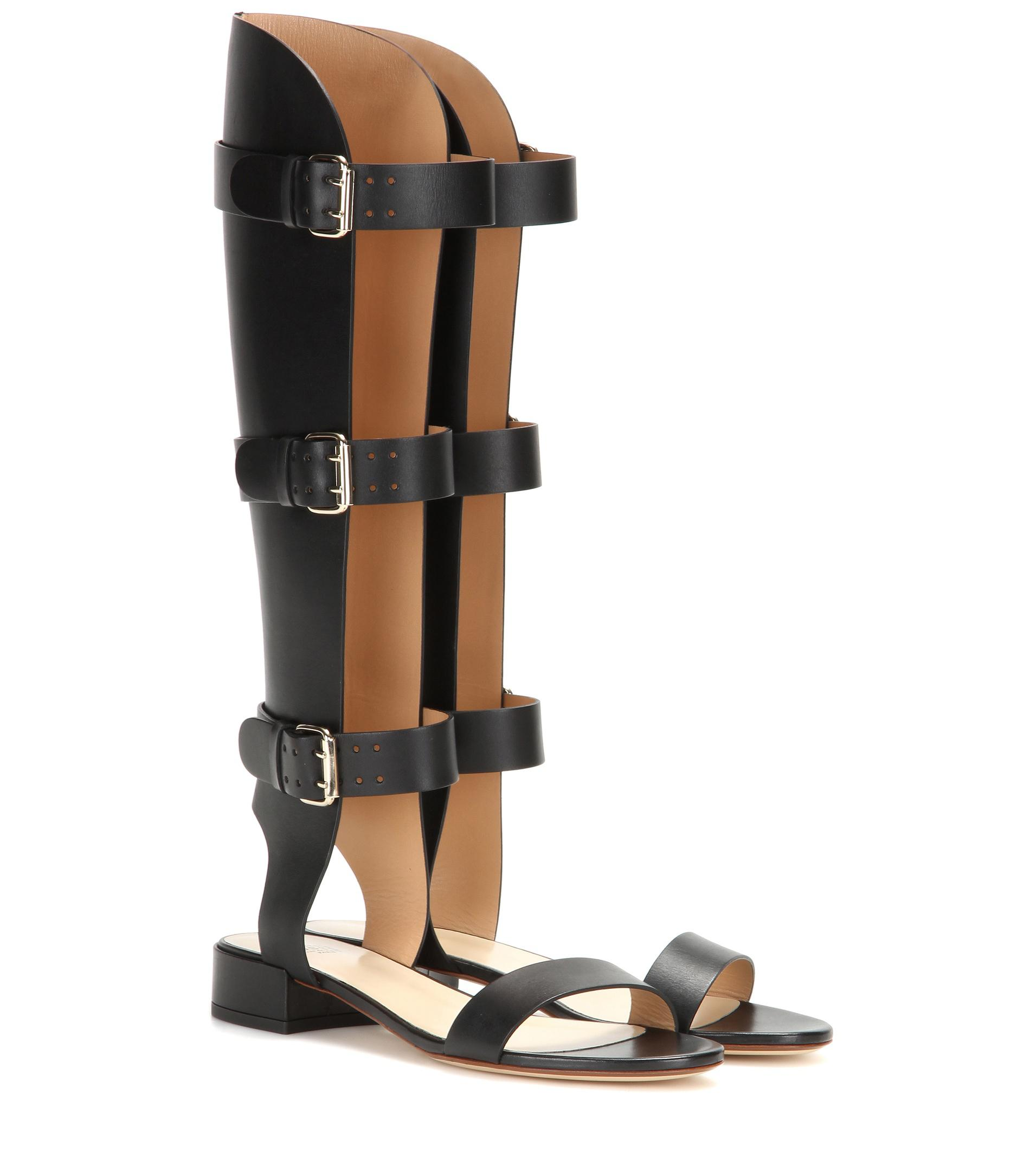 Leather gladiator sandals Francesco Russo P966uE3Ow