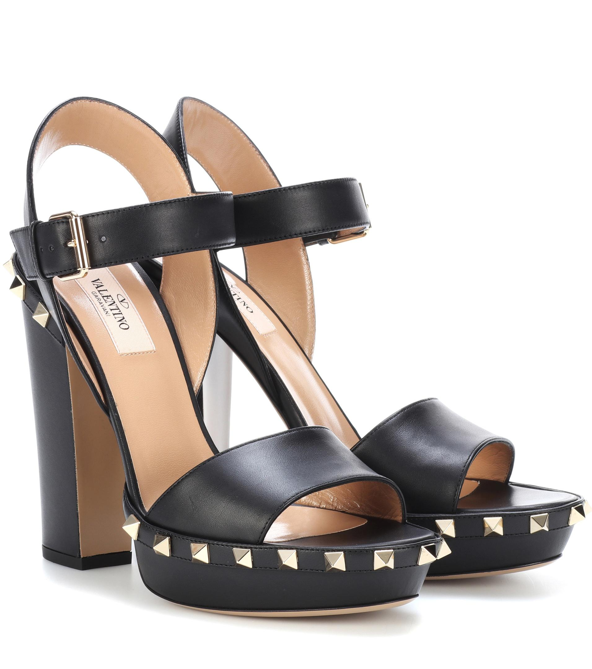 Valentino Garavani Rockstud leather plateau sandals