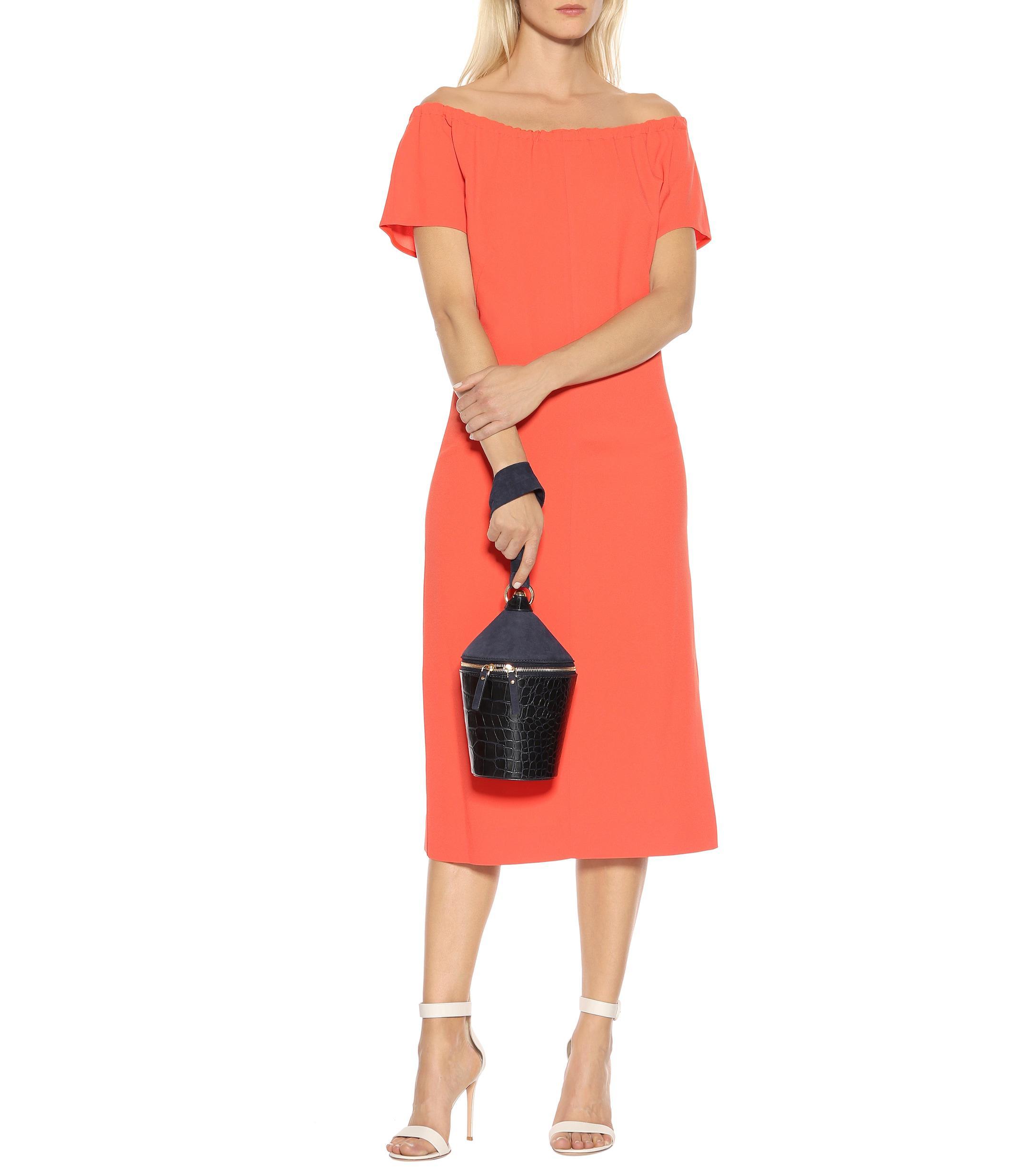 bdb1a00b5c Diane von Furstenberg - Multicolor Satin-crêpe Dress - Lyst. View fullscreen
