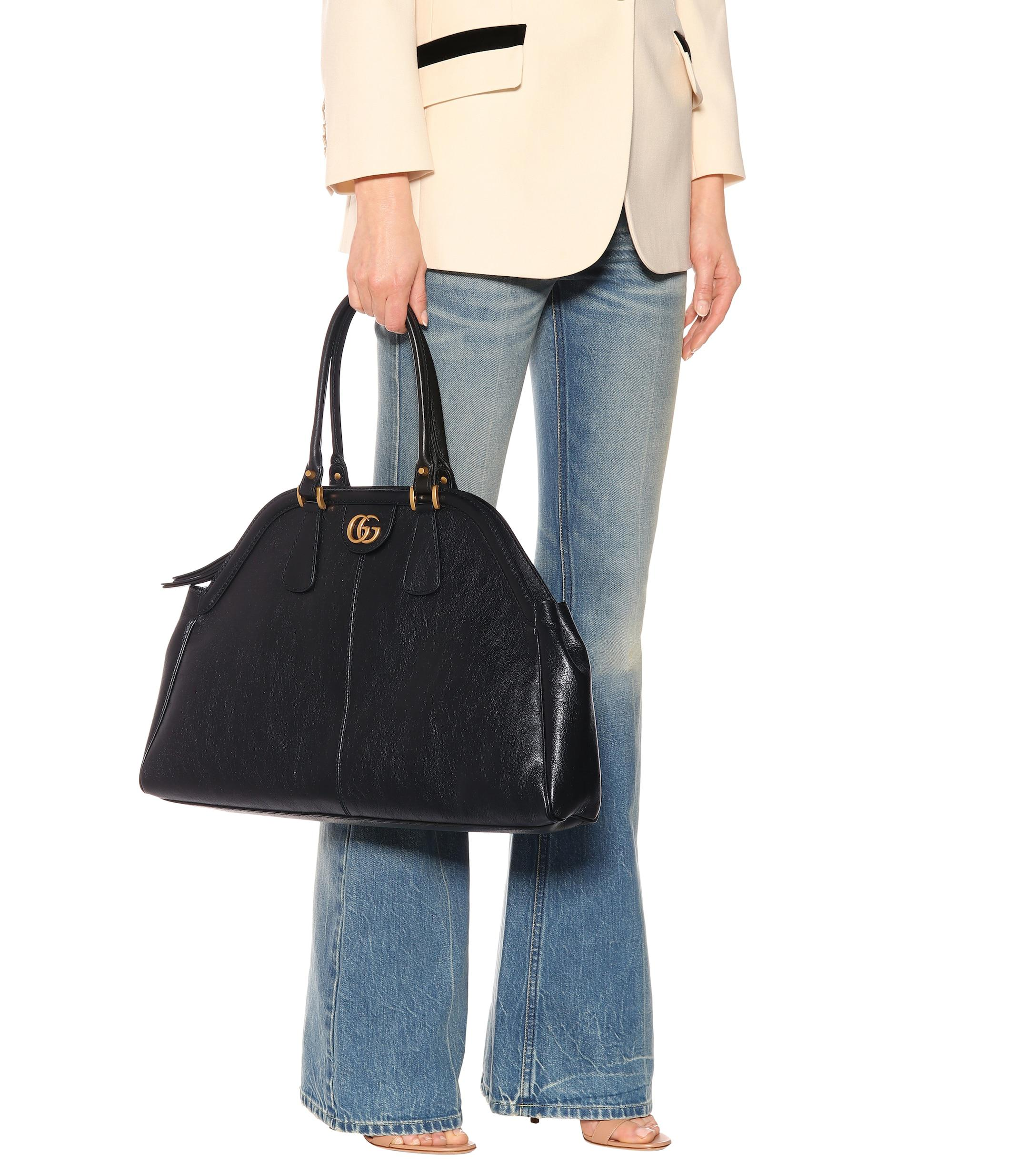 7d24fd5e5a2a Gucci Re(belle) Leather Bag in Black - Save 38% - Lyst