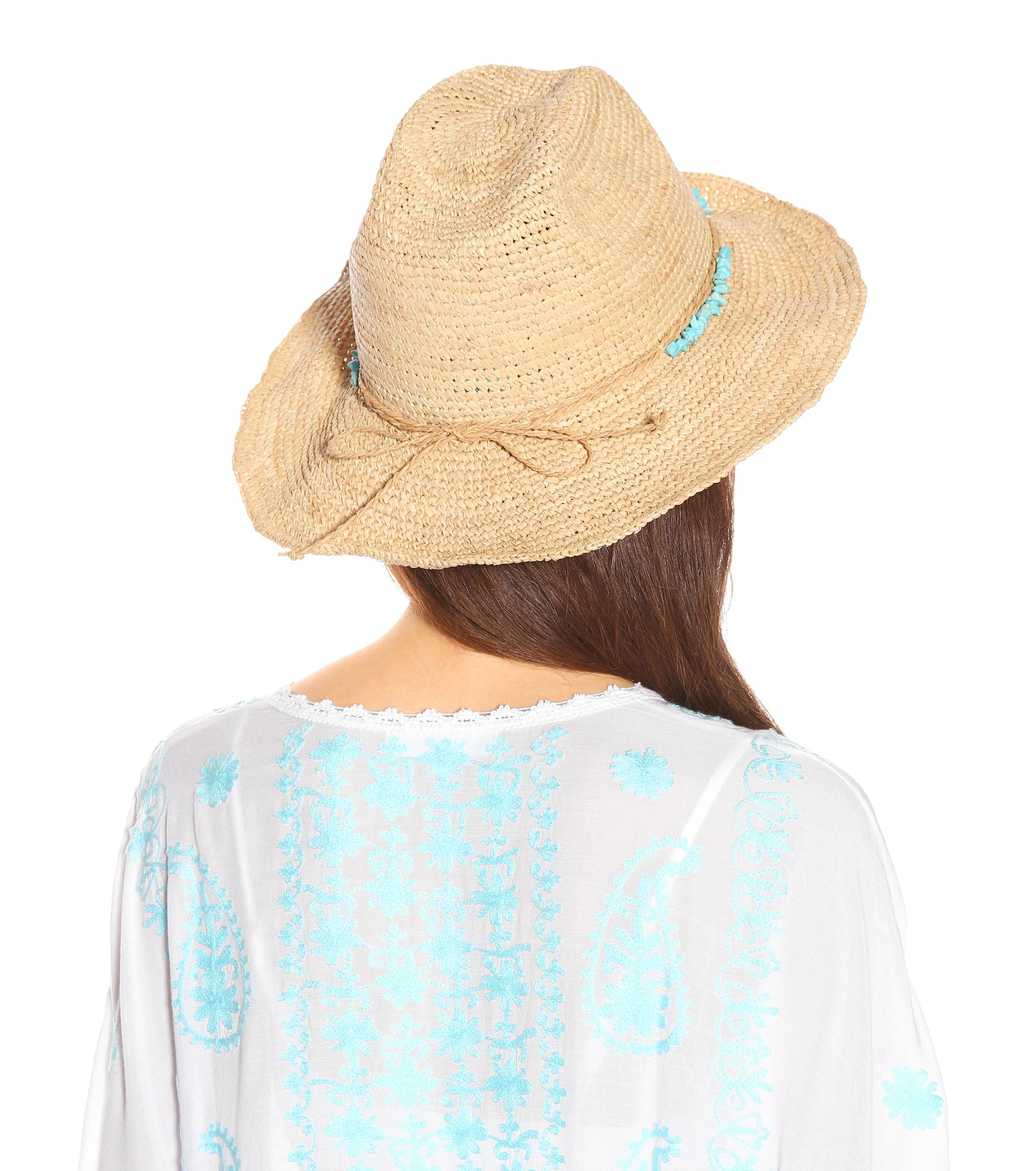 Melissa Odabash - Natural Elle Raffia Hat - Lyst. View fullscreen 85647fa43294