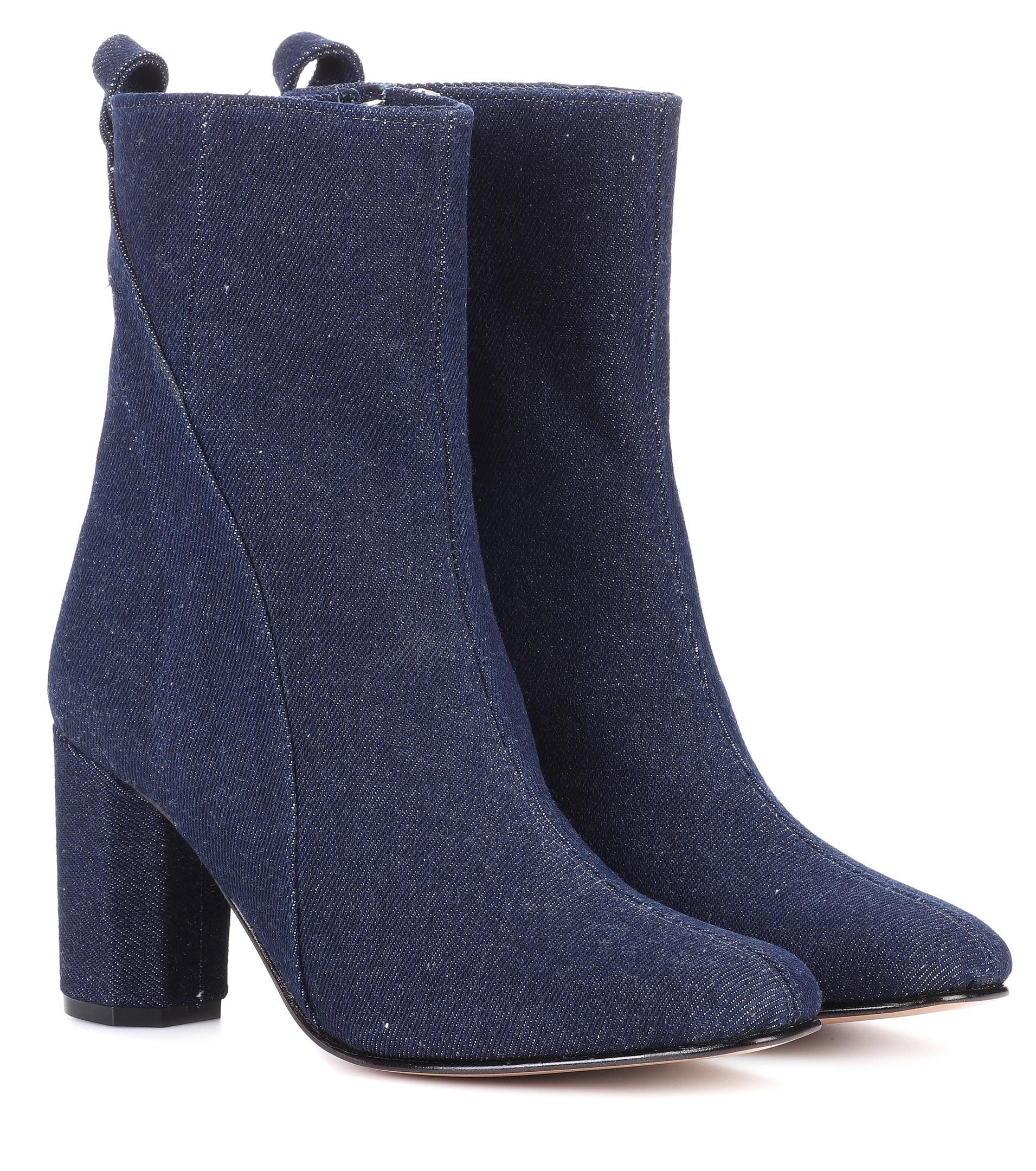 Ganni Joan denim ankle boots XMLfeKMIE