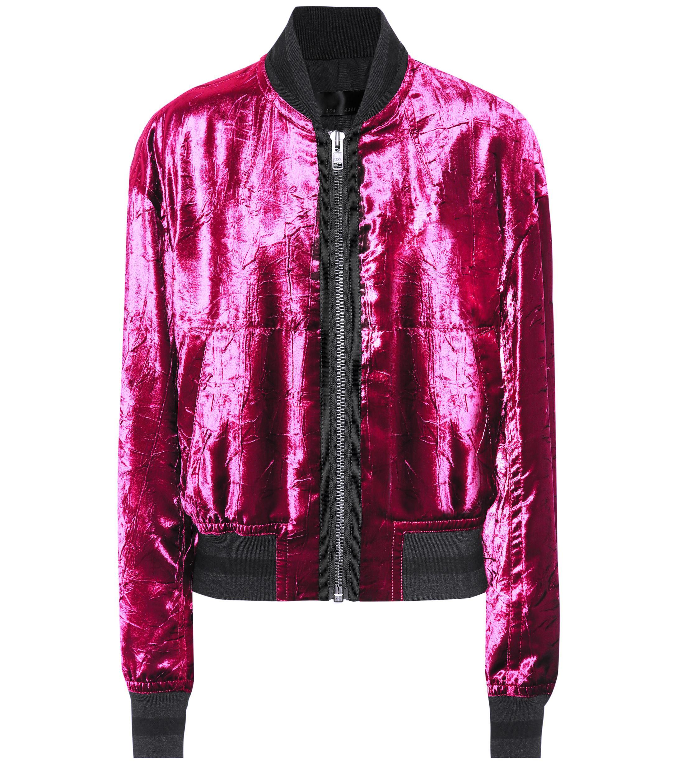 417cf59b4 Women's Velvet Bomber Jacket