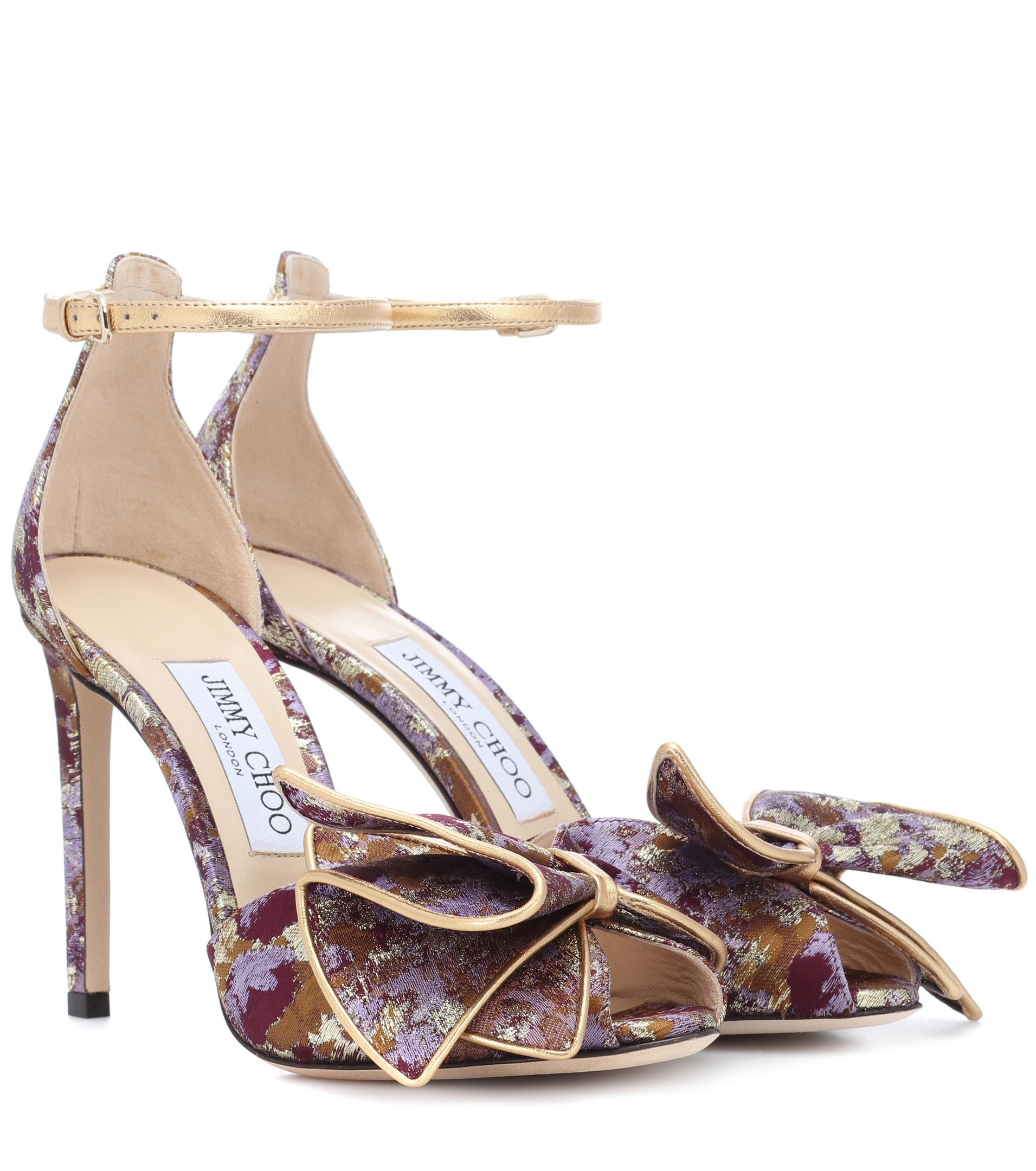 outlet online discount geniue stockist Jimmy Choo Karlotta 100 brocade sandals MRBZ00