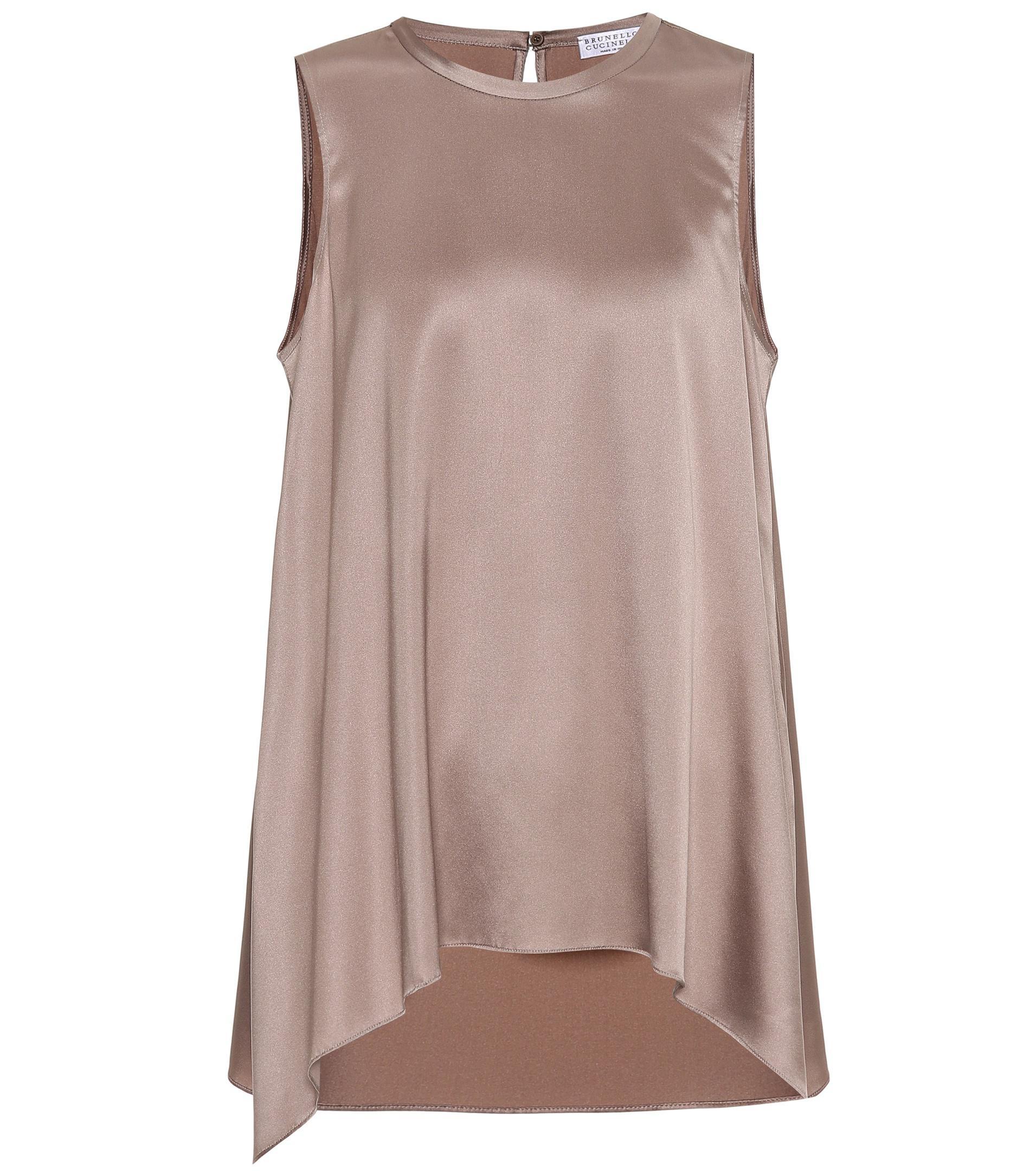 Official Site For Sale Cheap Price Asymmetric silk top Brunello Cucinelli Clearance Ebay cs8wmZiDvW