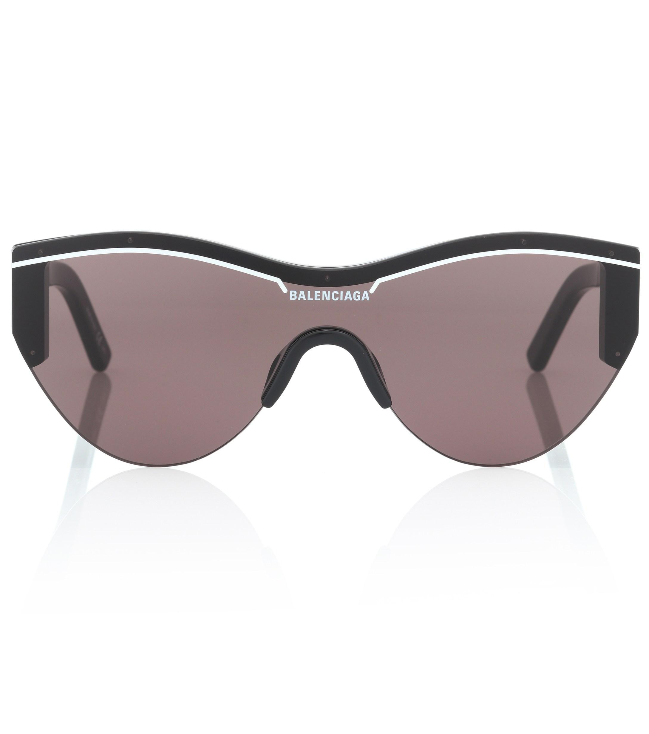 f08cd0bc95 Balenciaga - Black Ski Cat Sunglasses - Lyst. View fullscreen