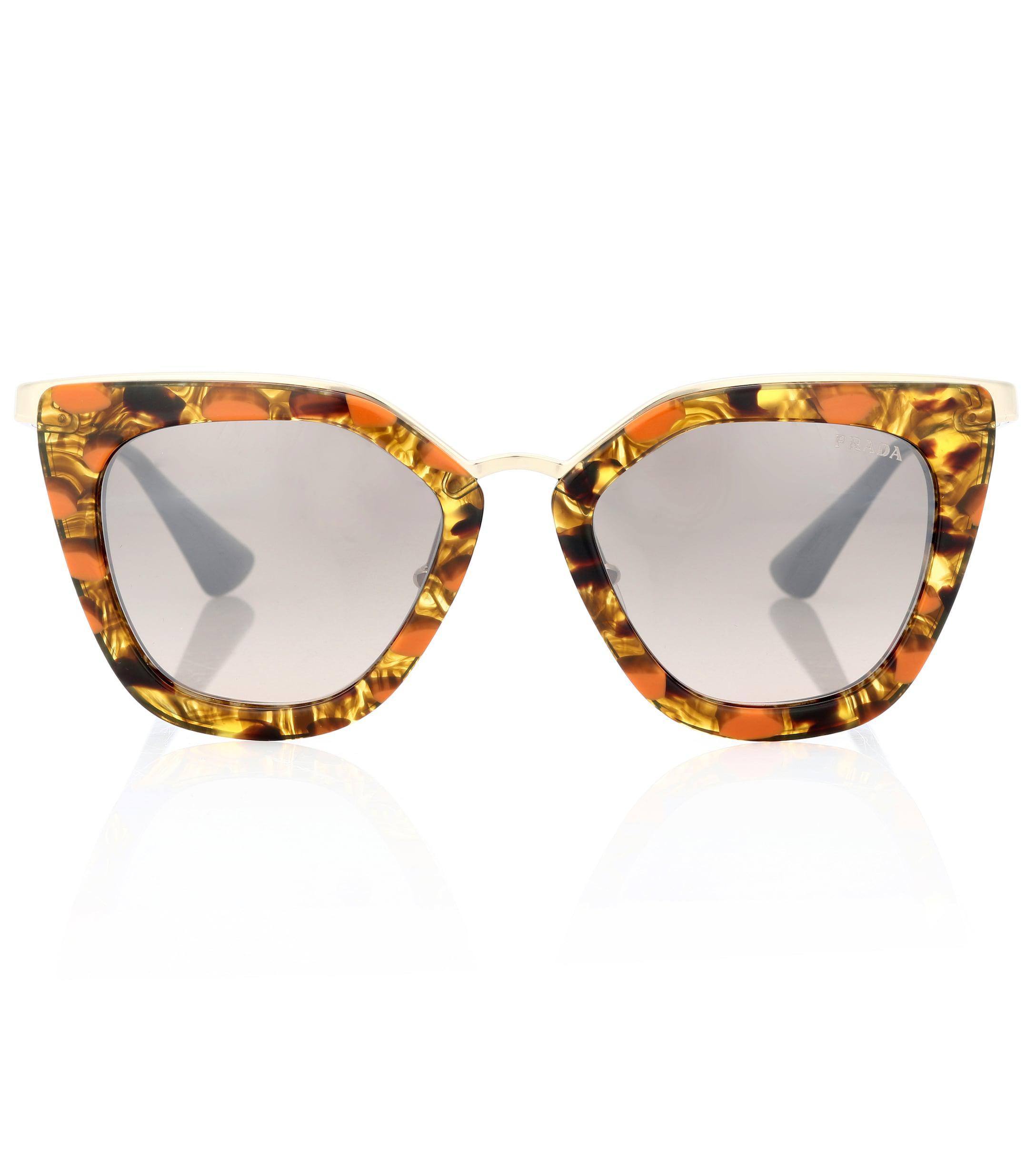74b81641f9 Prada Cinéma Cat-eye Sunglasses in Brown - Lyst