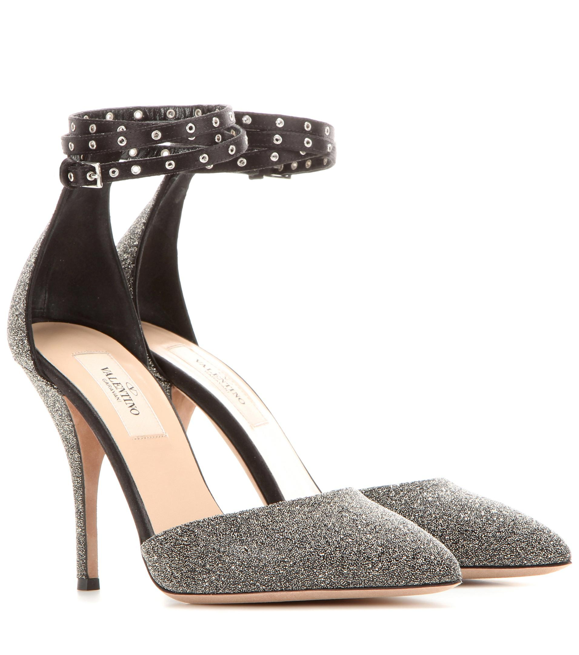 Valentino Garavani Love Latch crystal fabric pumps fVsAjL1o