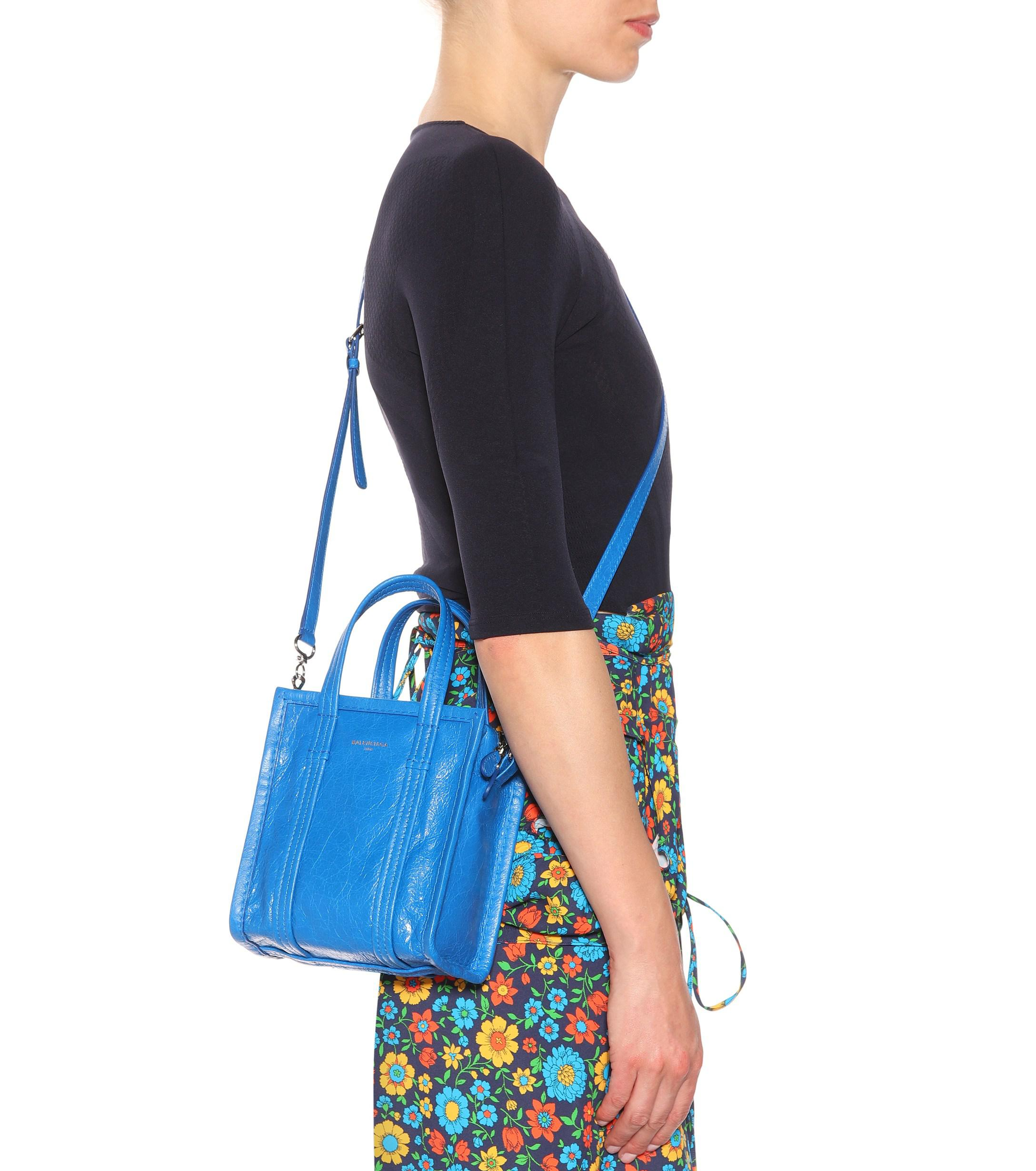 c50e0131a Balenciaga Bazar Xxs Leather Shopper in Blue - Lyst