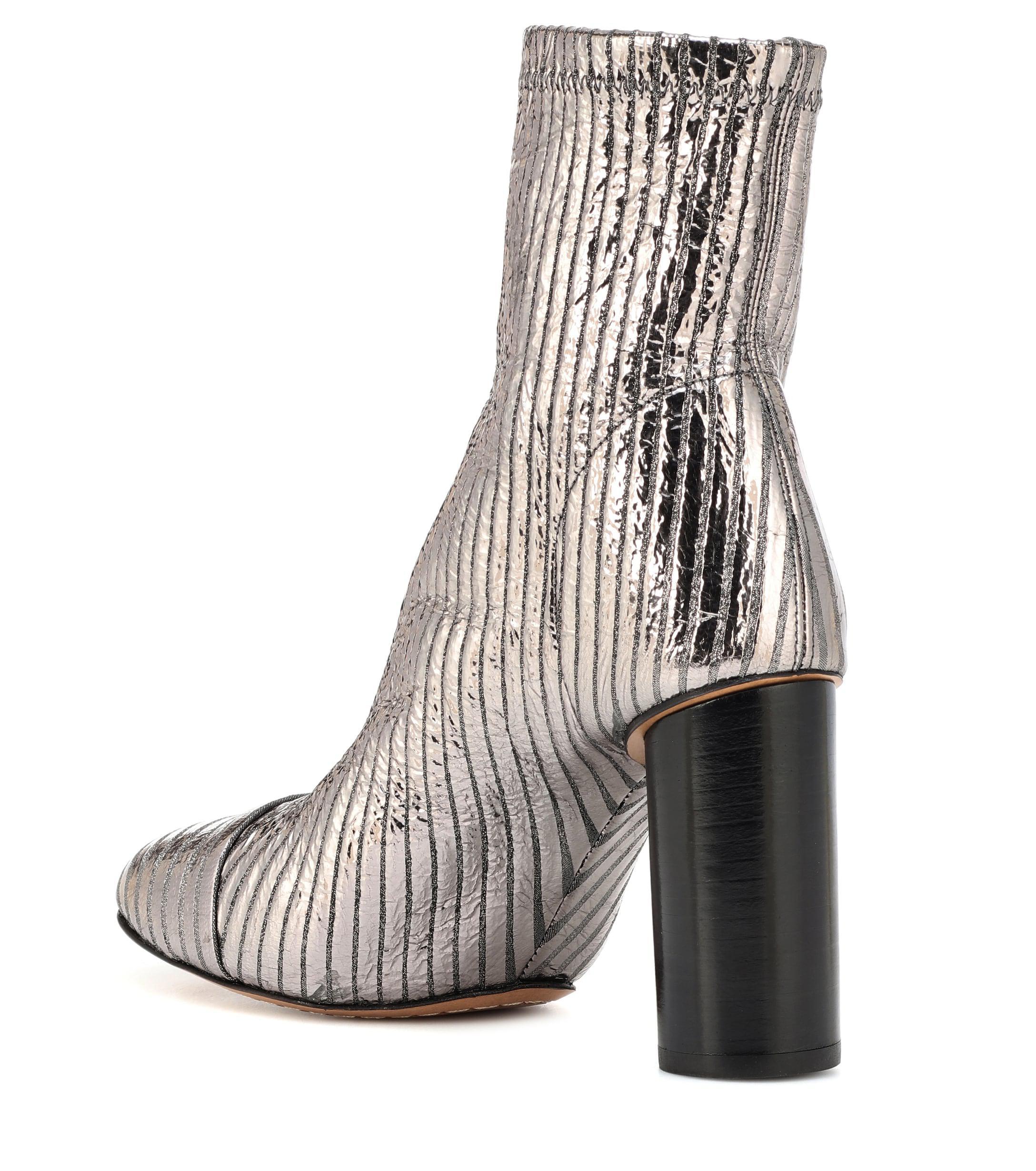 8cd91b44a2a Isabel Marant - Rillyan Metallic Leather Ankle Boots - Lyst. View fullscreen
