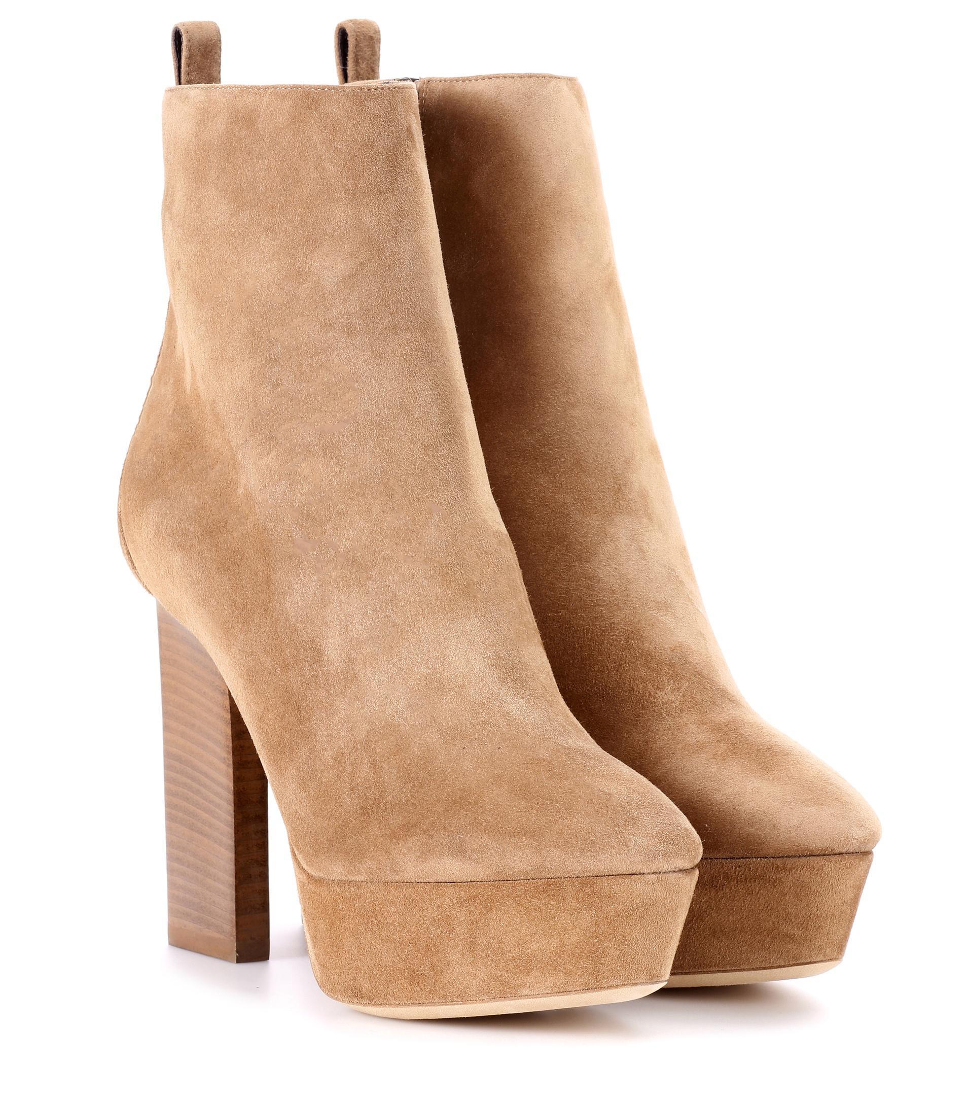 Vika 95 leather plateau ankle boots Saint Laurent MKlYahG