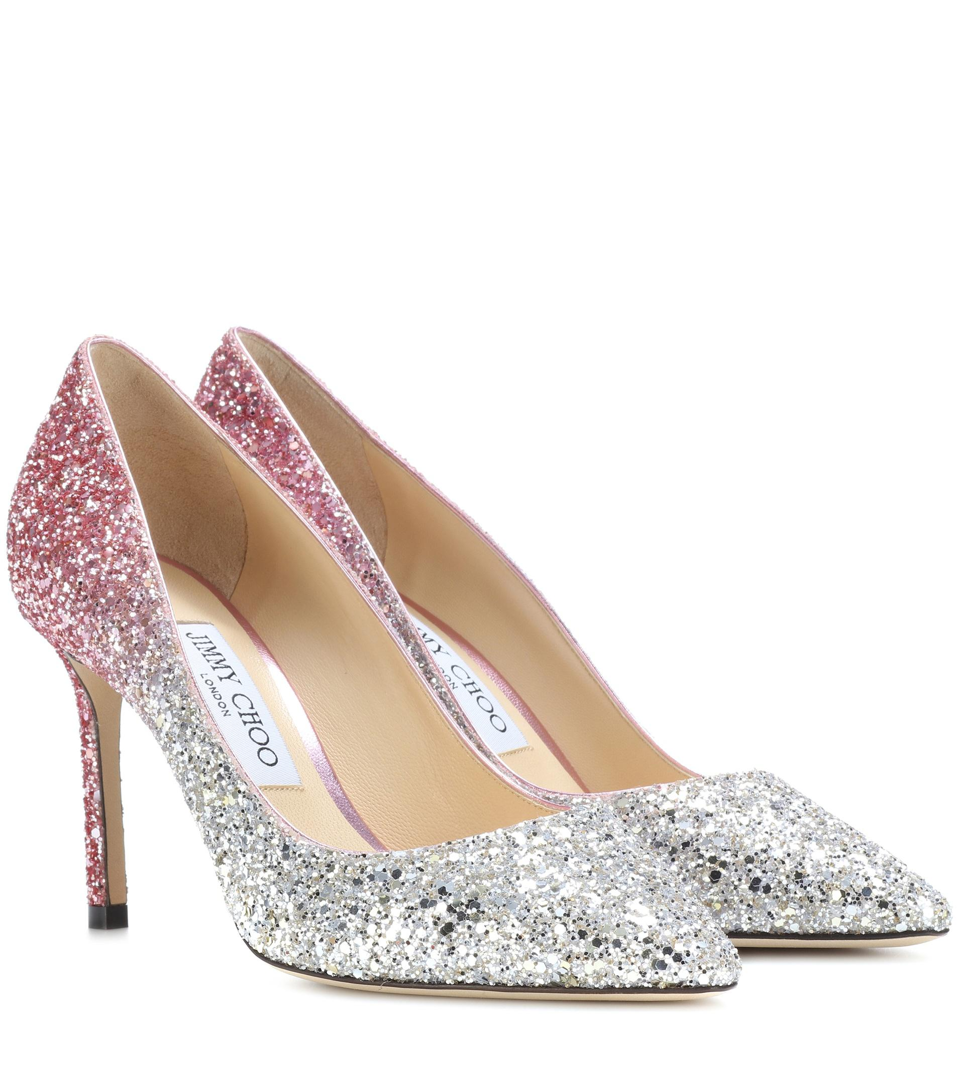 Exclusive to mytheresa.com - Romy 85 glitter pumps Jimmy Choo London Discount Authentic Buy Cheap Top Quality Cheap Price Free Shipping Outlet For Nice Pre Order Cheap Online z2igHJ8