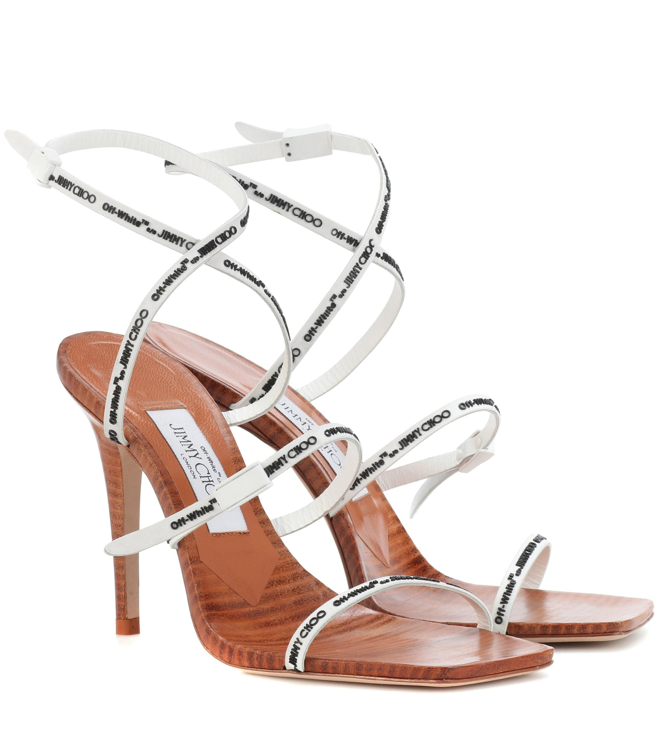 a6901f447634 Jimmy Choo - X Off-white Jane 100 Sandals - Lyst. View fullscreen