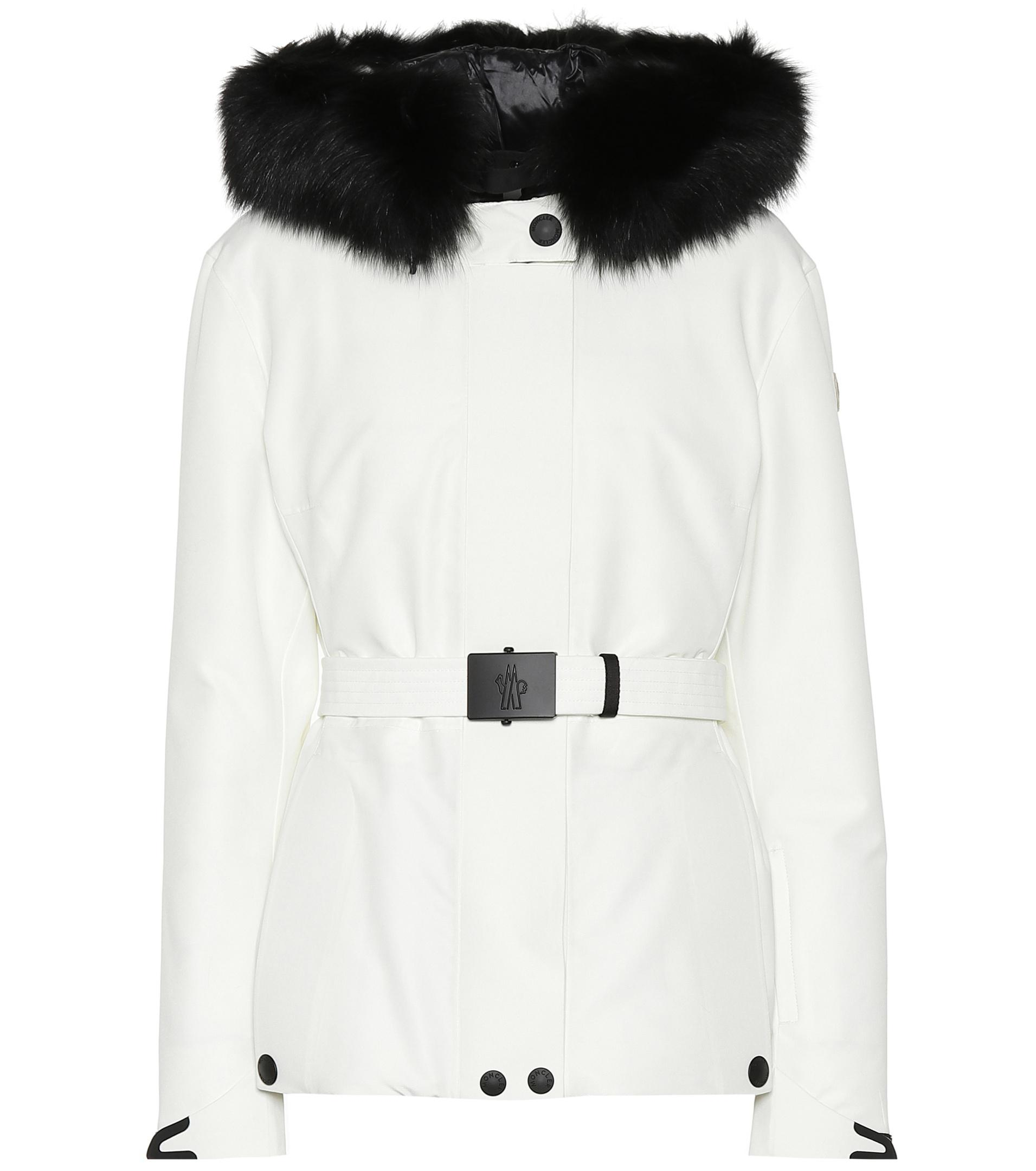e075b101a Moncler Grenoble Laplance Down Ski Jacket in White - Lyst