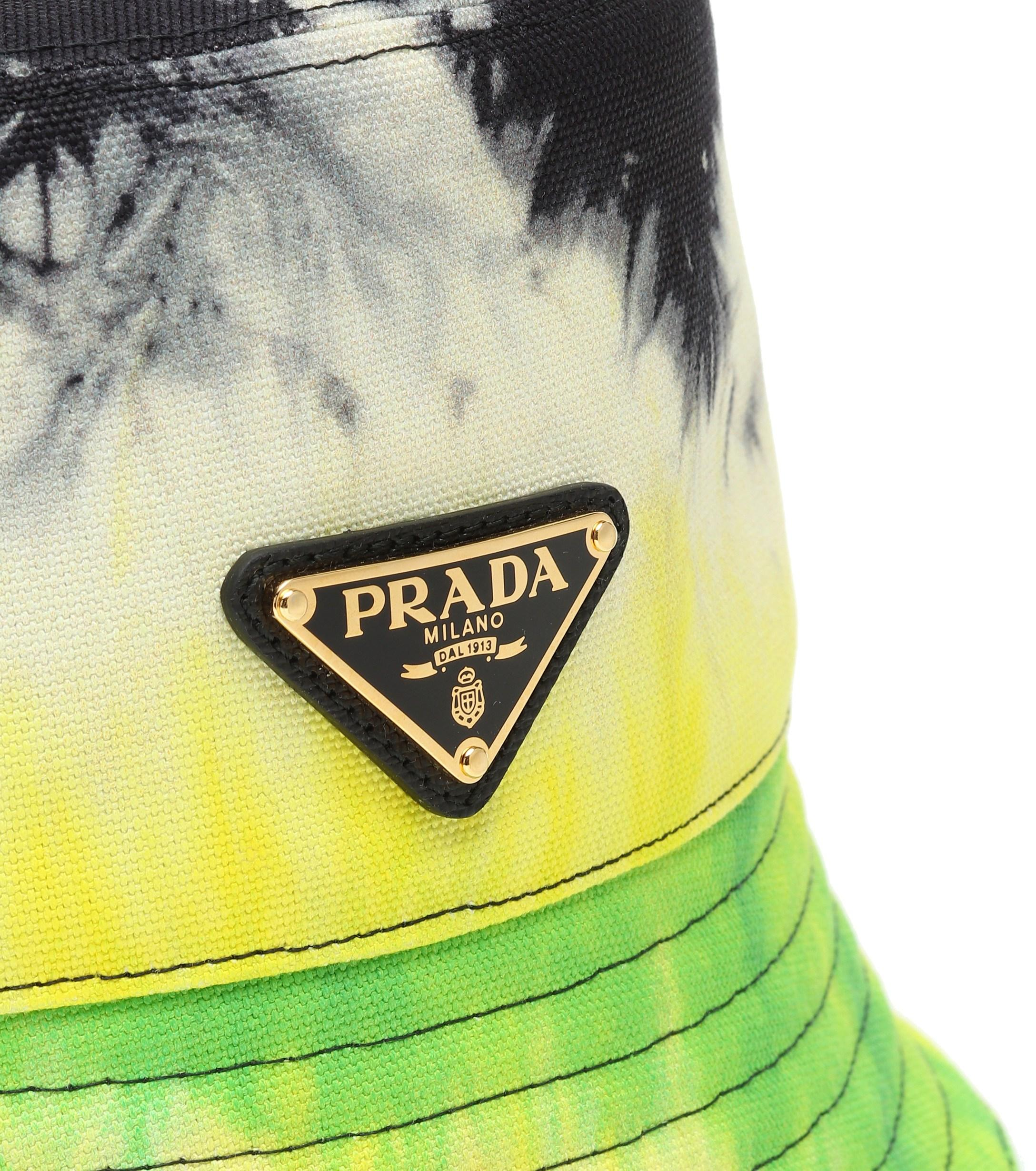 1417a214465ca6 Prada Tie-dye Cotton Twill Bucket Hat - Lyst