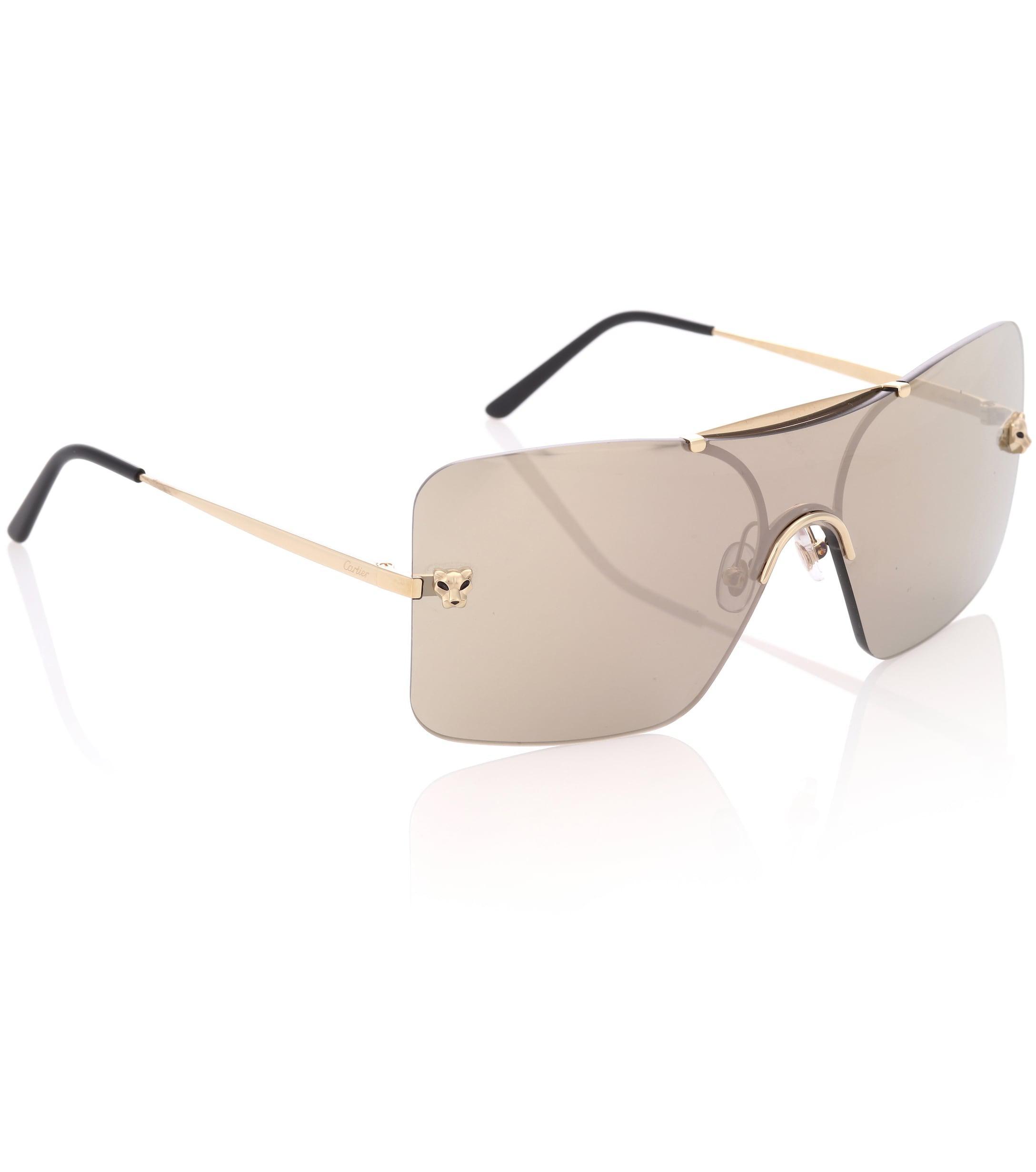 c22ac1809c3 Cartier - Metallic Panthère De Cartier Square Sunglasses - Lyst. View  fullscreen