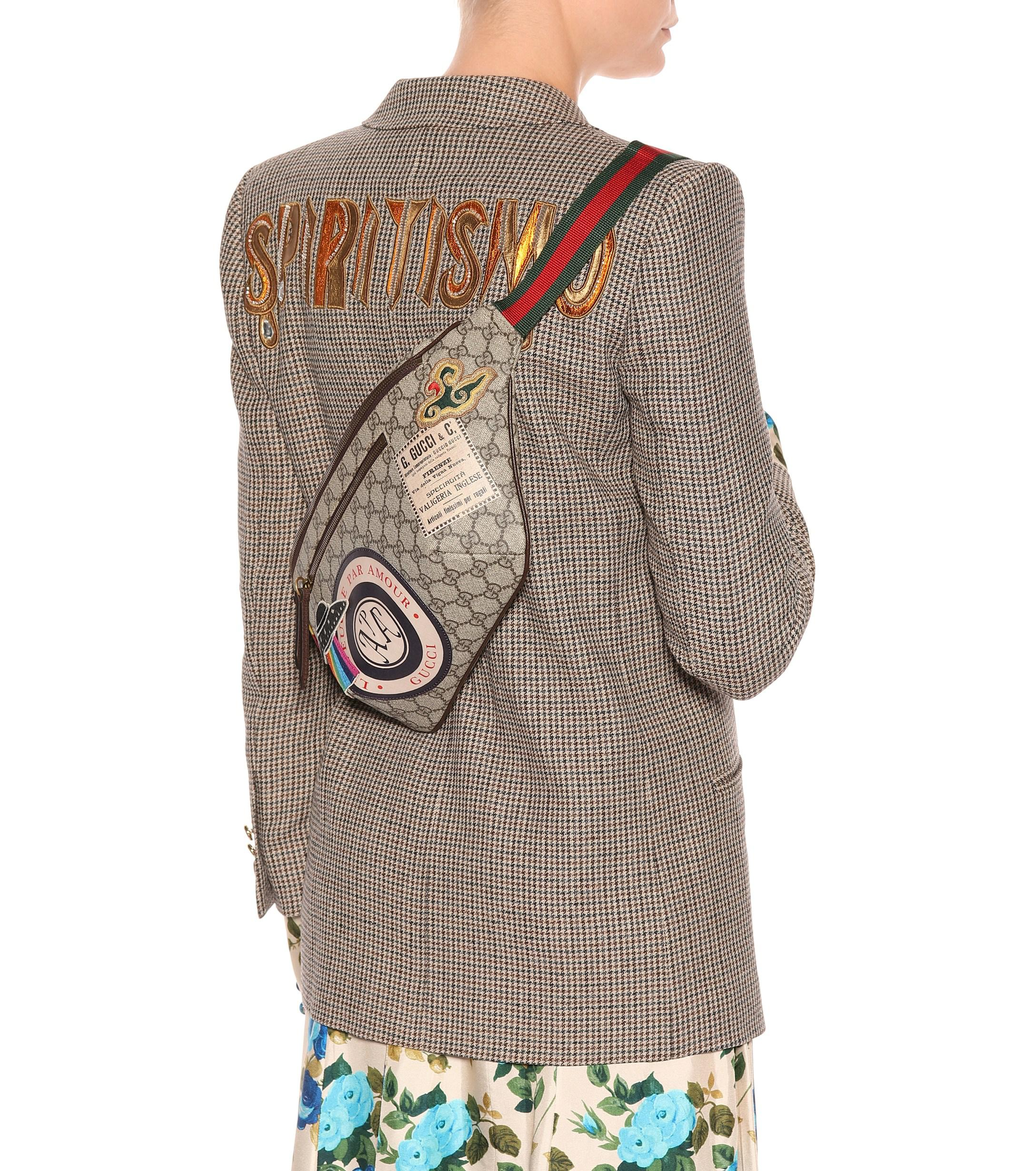 686459828538 Gucci - Multicolor GG Supreme Appliquéd Belt Bag - Lyst. View fullscreen