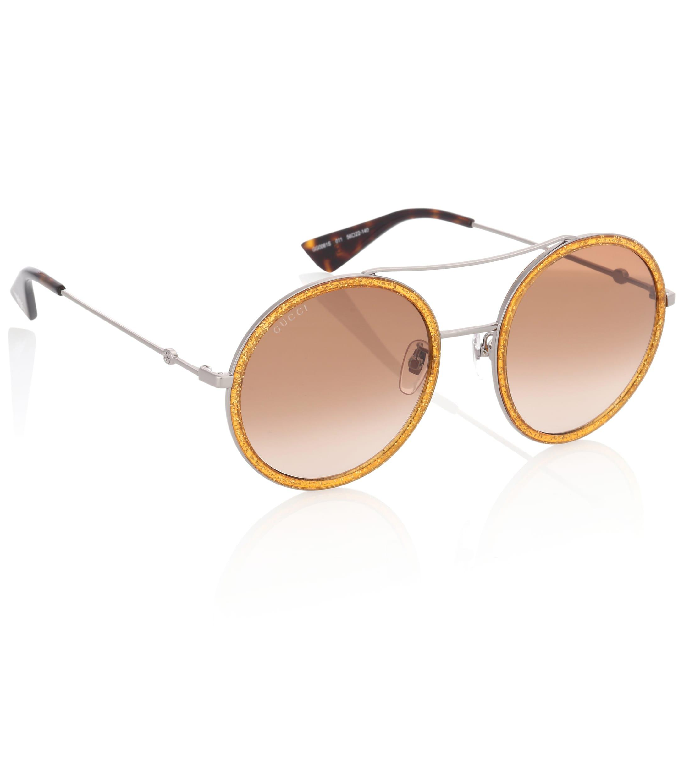 126509052f0 Gucci Exclusive To Mytheresa.com – Round Sunglasses in Metallic - Lyst