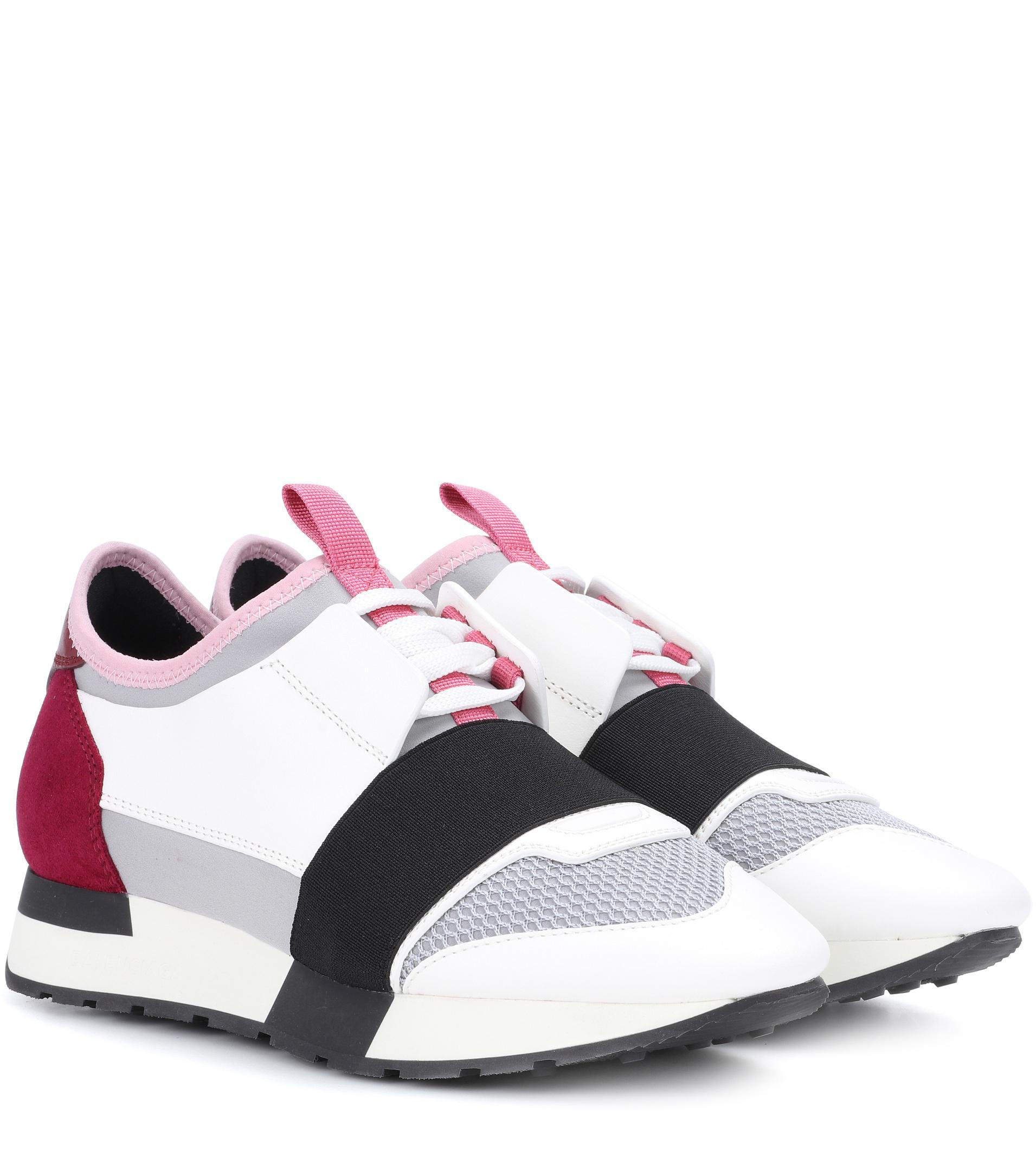 Sneaker RACE RUNNER calfskin mesh textile multicoloured Balenciaga a5c2JAikD0