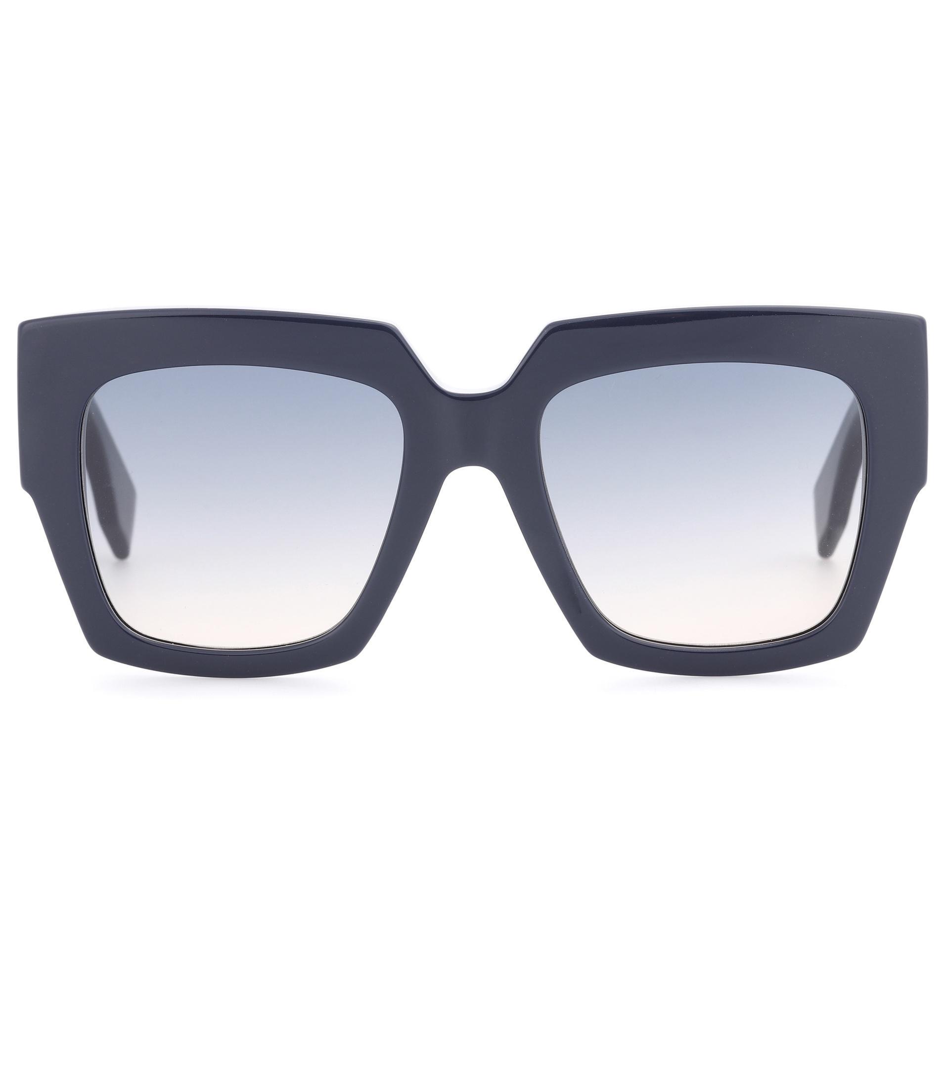 10a26e0542309 Fendi Facets Oversized Square Sunglasses in Blue - Lyst