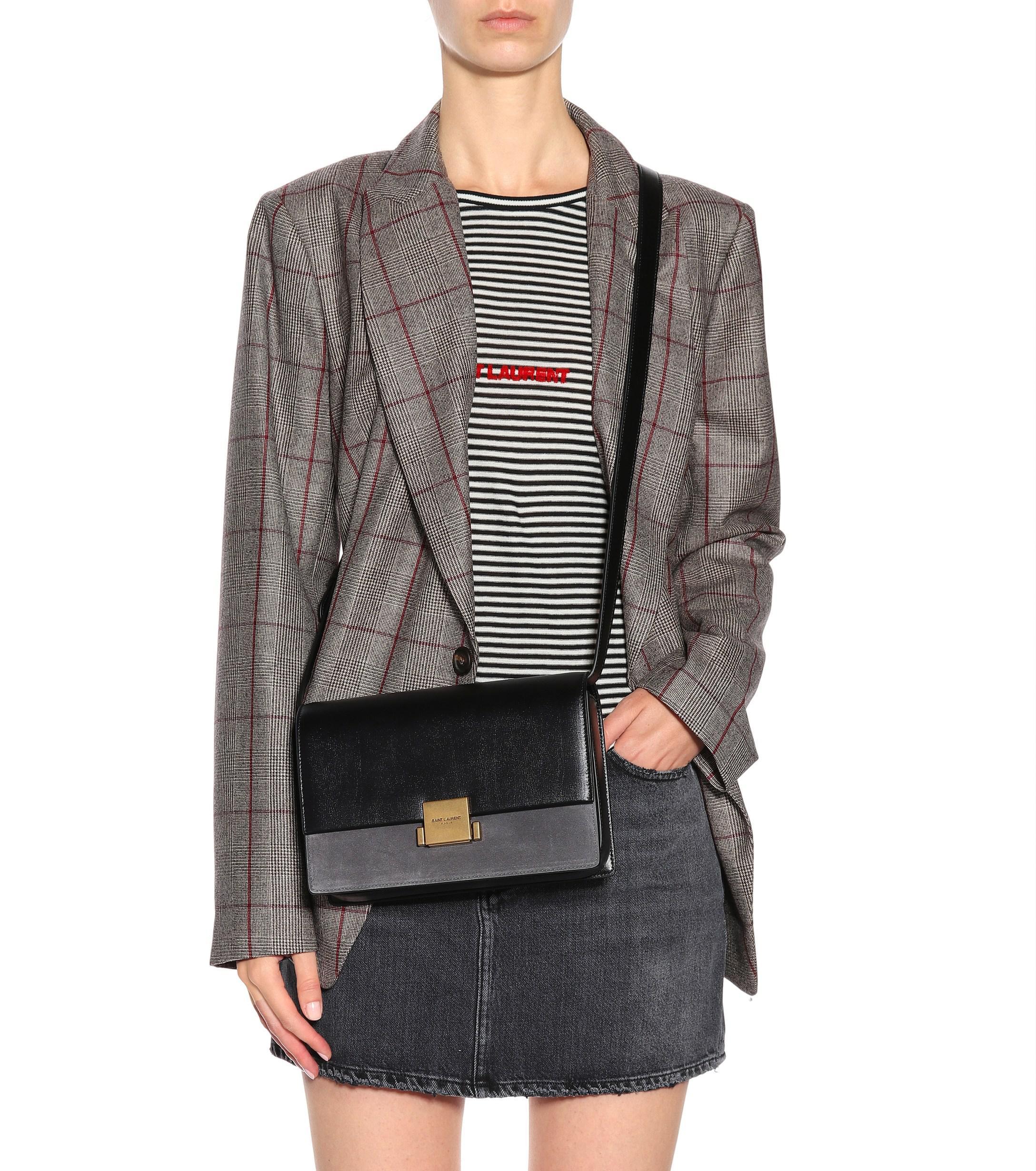 f98fa0ebc Saint Laurent Medium Bellechasse Crossbody Bag in Gray - Lyst