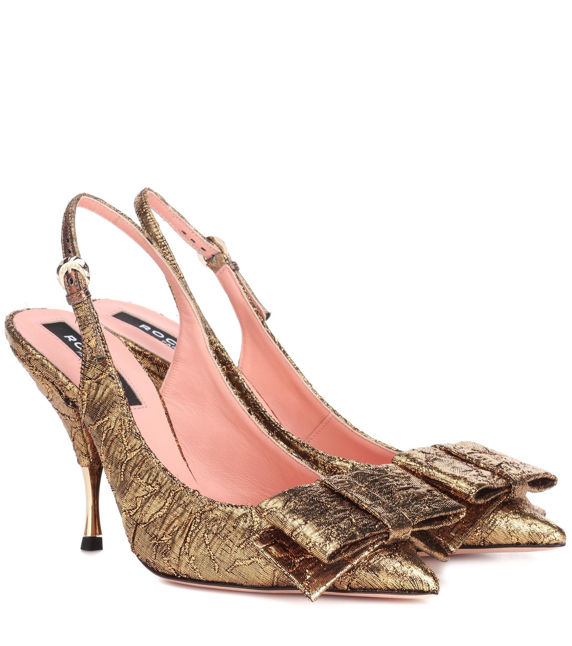 43ce03e4738e Rochas. Women s Metallic Miki Brocade Slingback Pumps.  710  497 From  Mytheresa. Free shipping ...