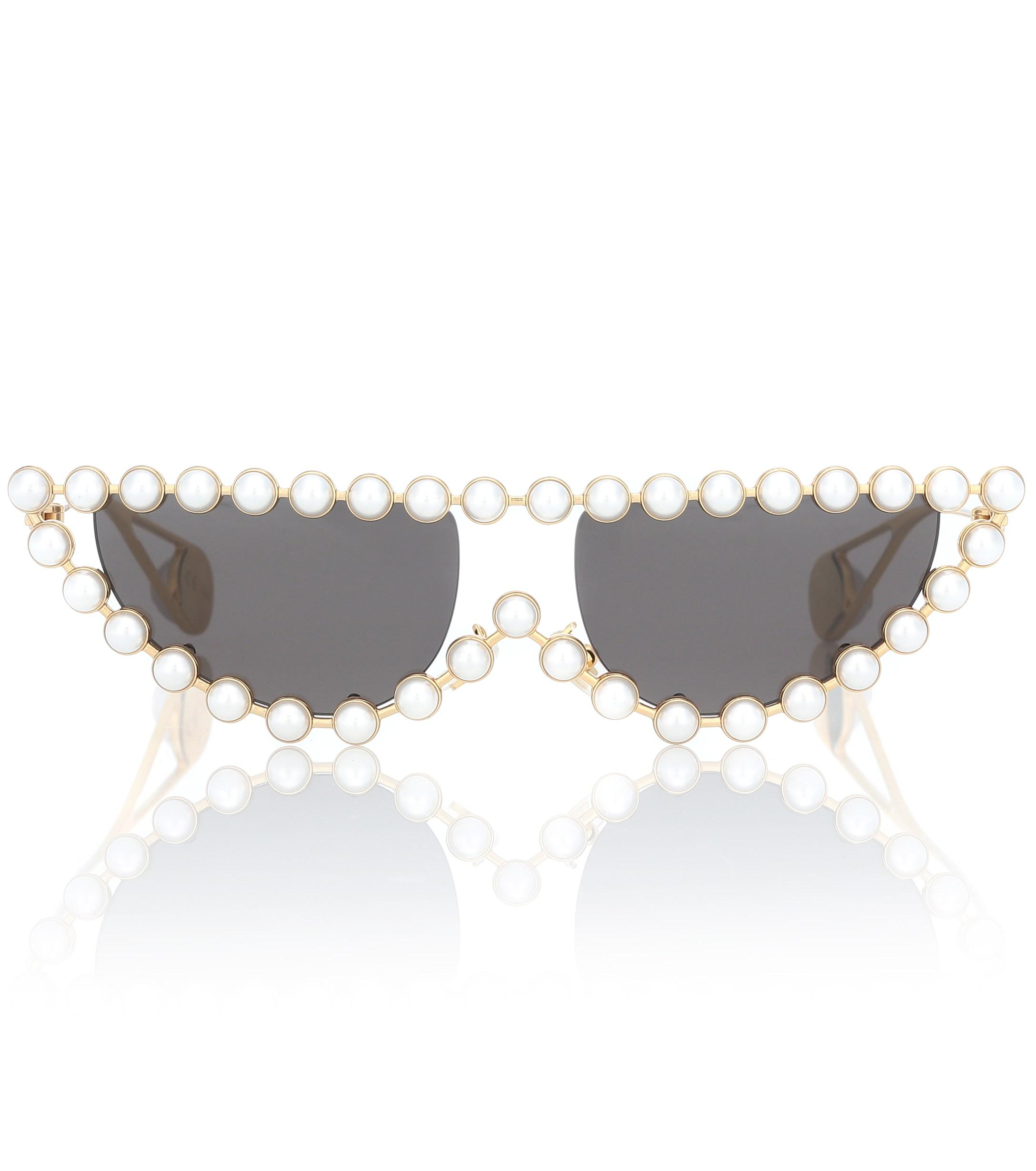 5a2f62dcfc5 Lyst - Gucci Hollywood Forever Cat-eye Sunglasses in Metallic